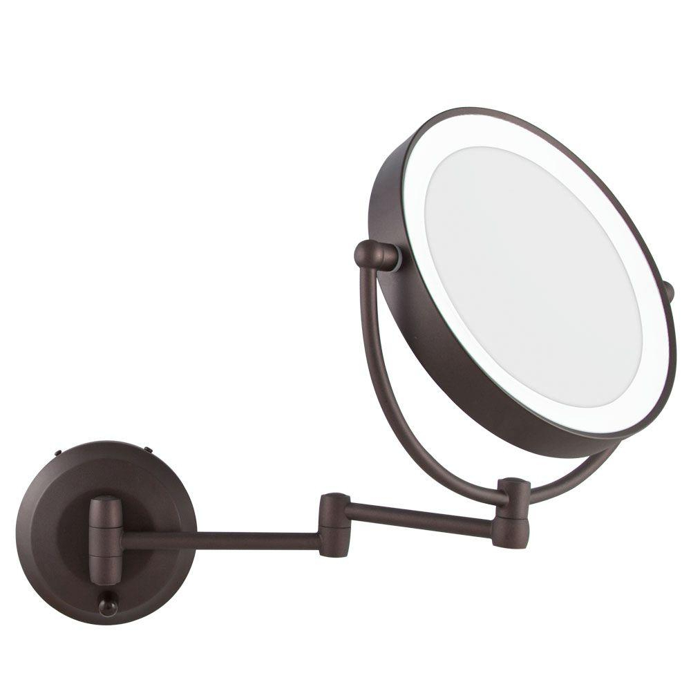 Widely Used Magnified Wall Mirrors Regarding Inspirations: Outstanding Lighted Magnifying Mirror Design For Home (View 19 of 20)