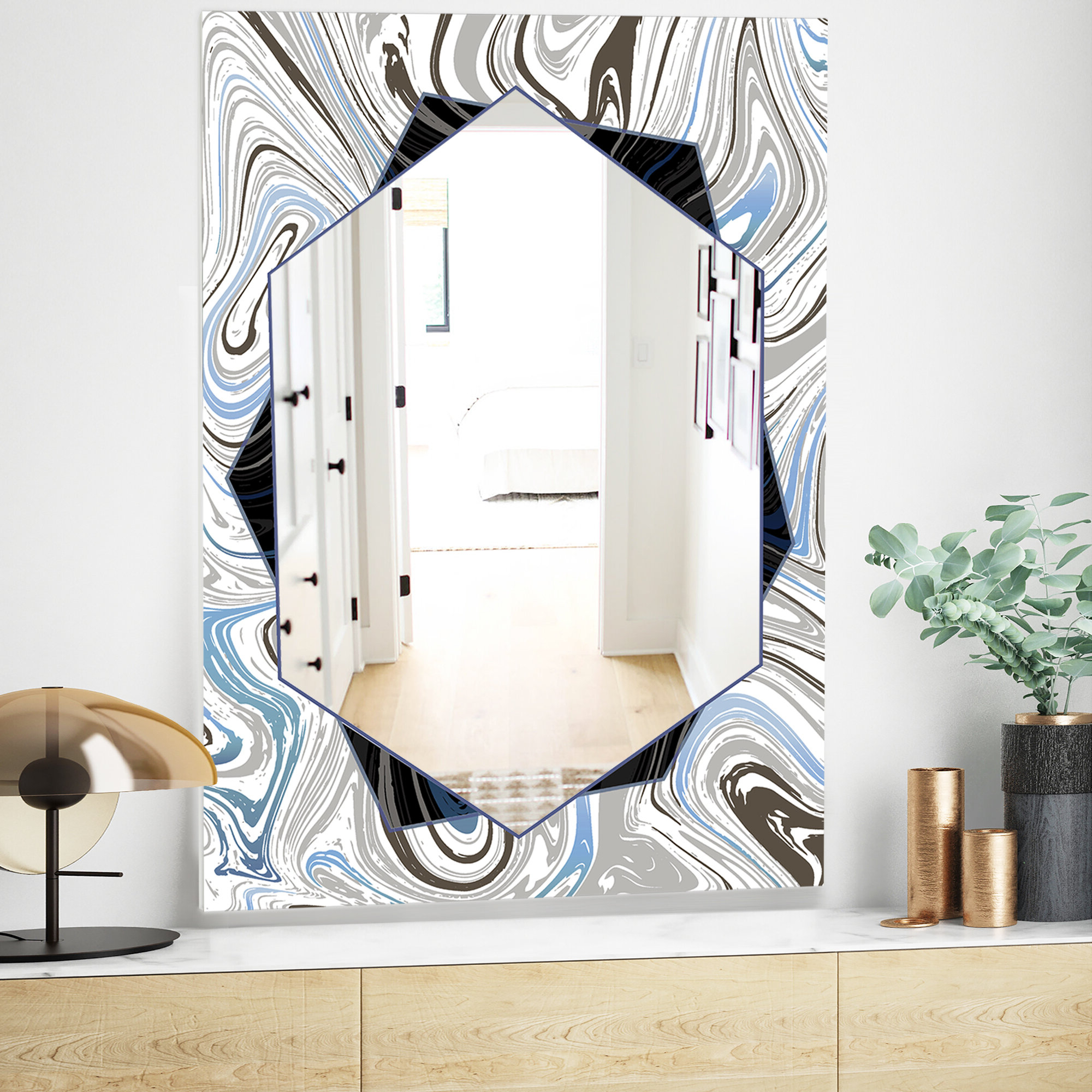 Widely Used Marbled Diamond Traditional Frameless Accent Mirror With Traditional Frameless Diamond Wall Mirrors (View 19 of 20)
