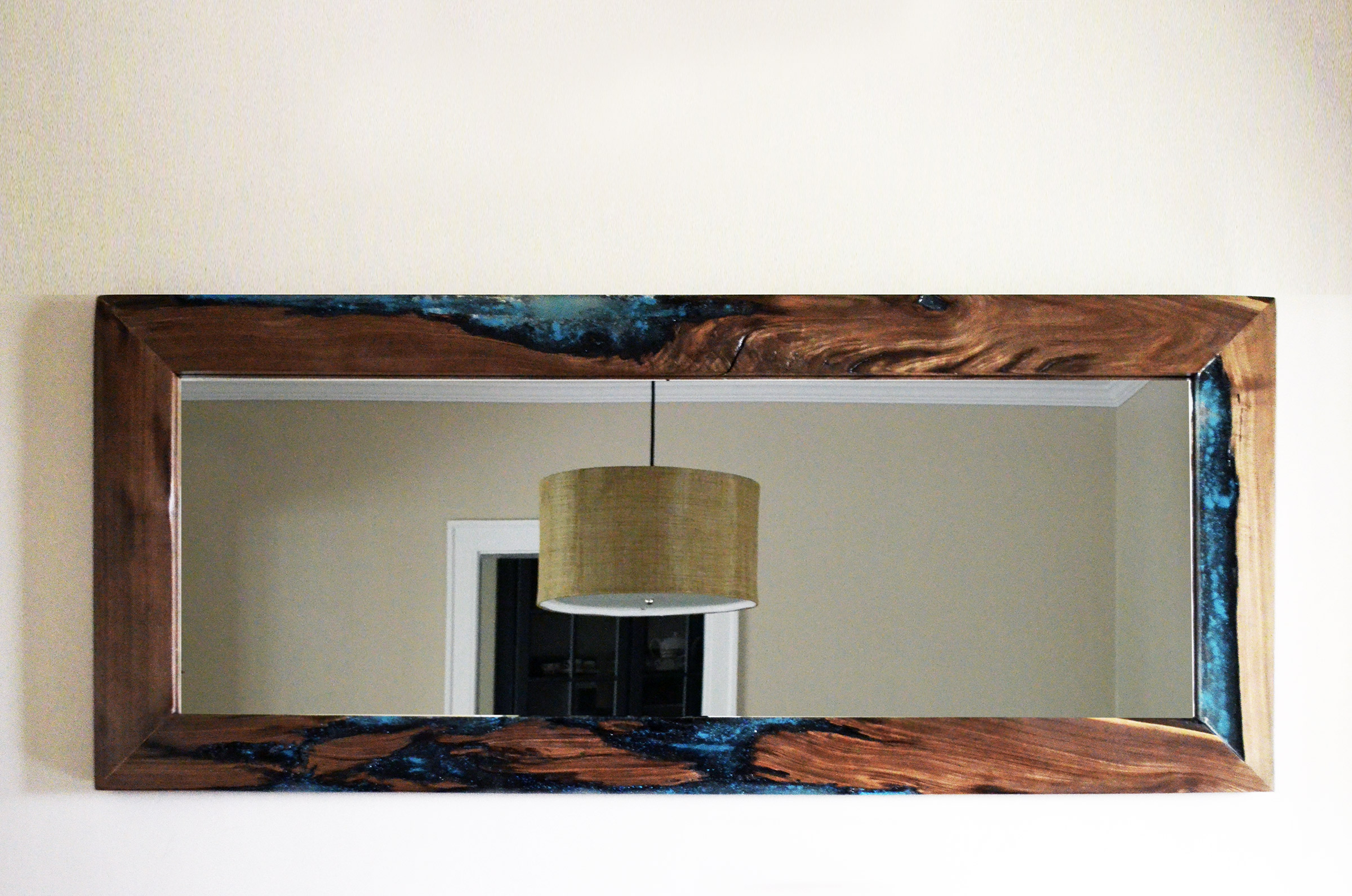 Widely Used Massive Wall Mirrors Intended For Live Edge Walnut Mirror Large (View 20 of 20)