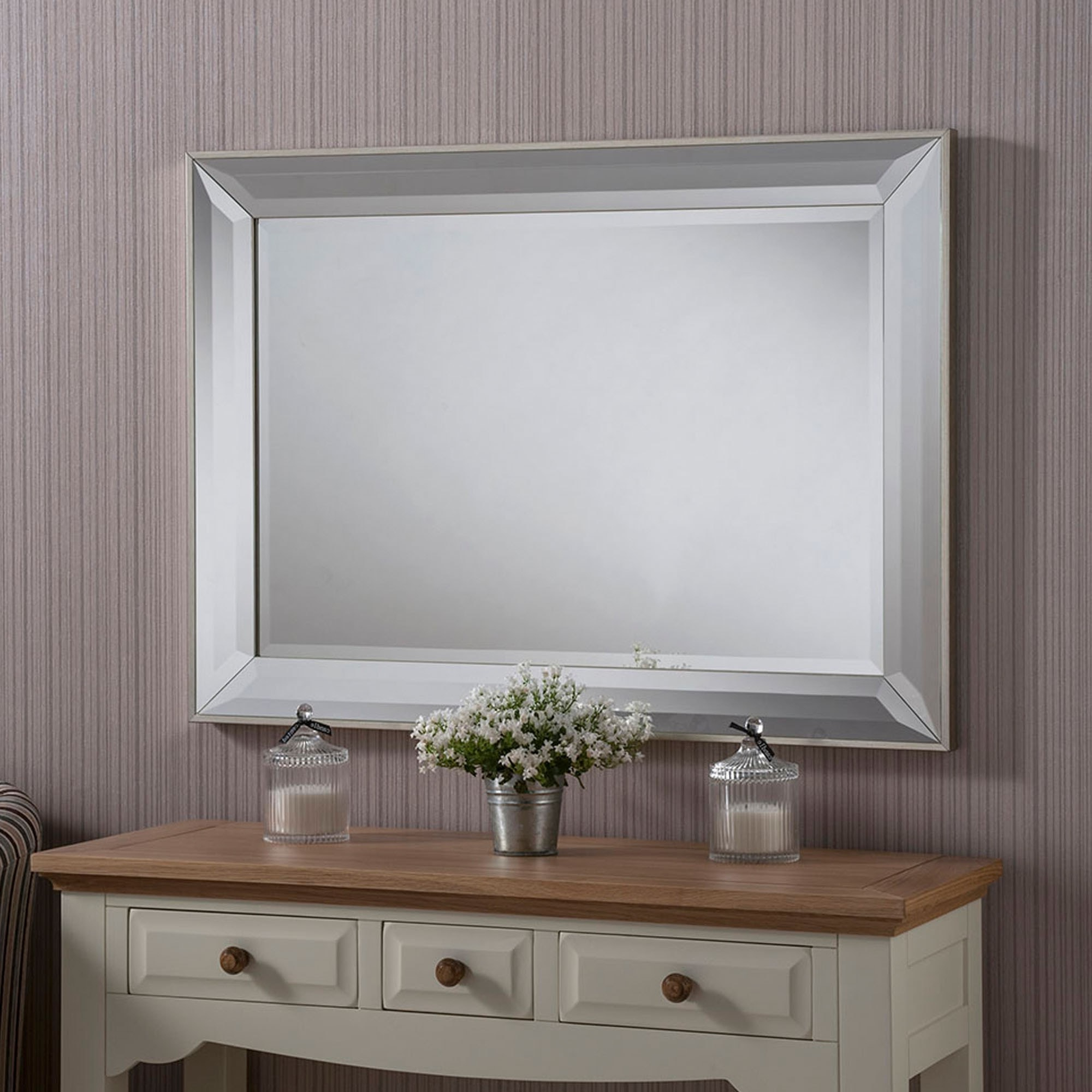 Widely Used Modern & Contemporary Beveled Wall Mirrors For Contemporary Beveled Mirrored Wall Mirror (Gallery 9 of 20)