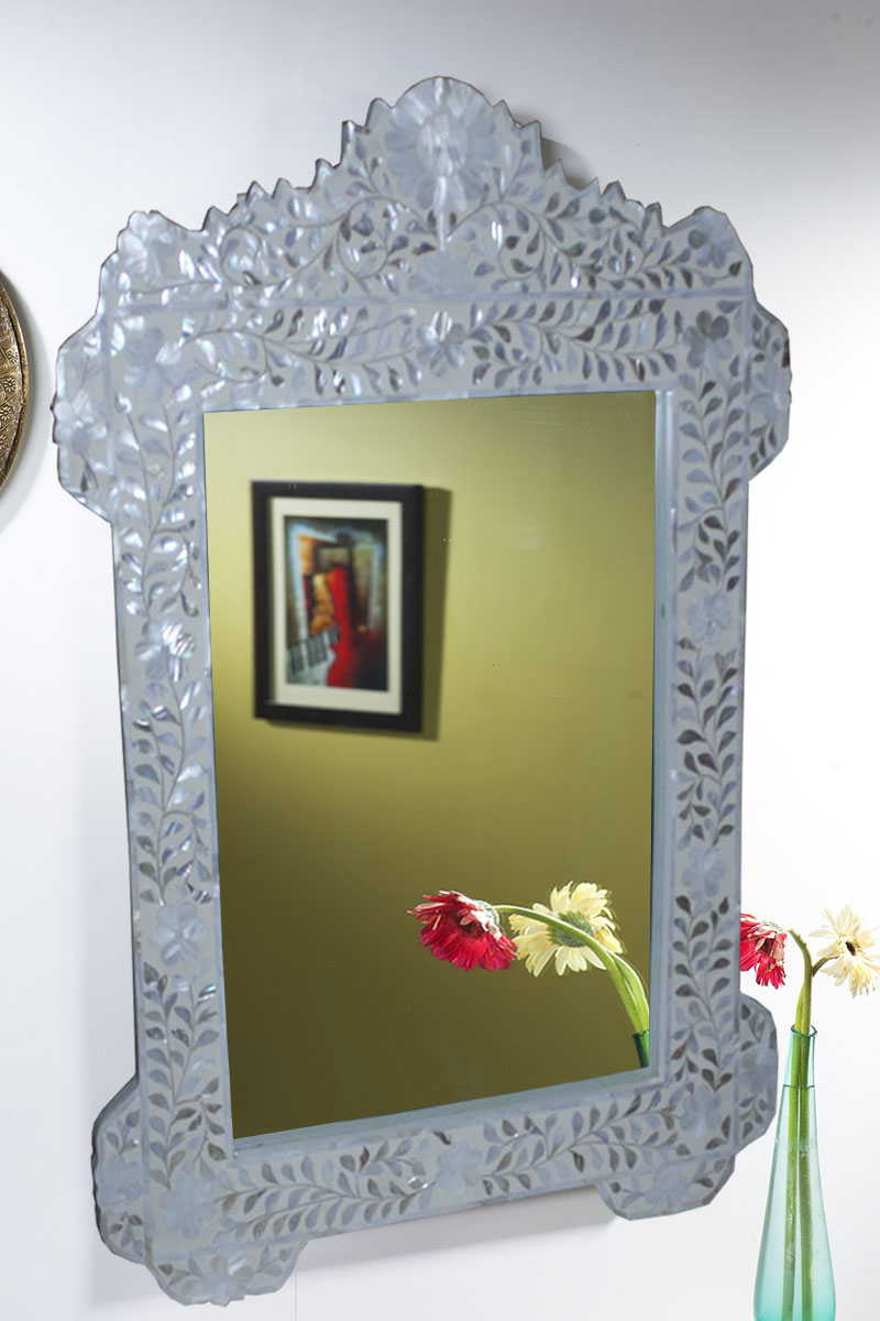 Widely Used Mother Of Pearl Inlay Wall Mirrors With Regard To Mother Of Pearl Wall Mirrors (View 19 of 20)