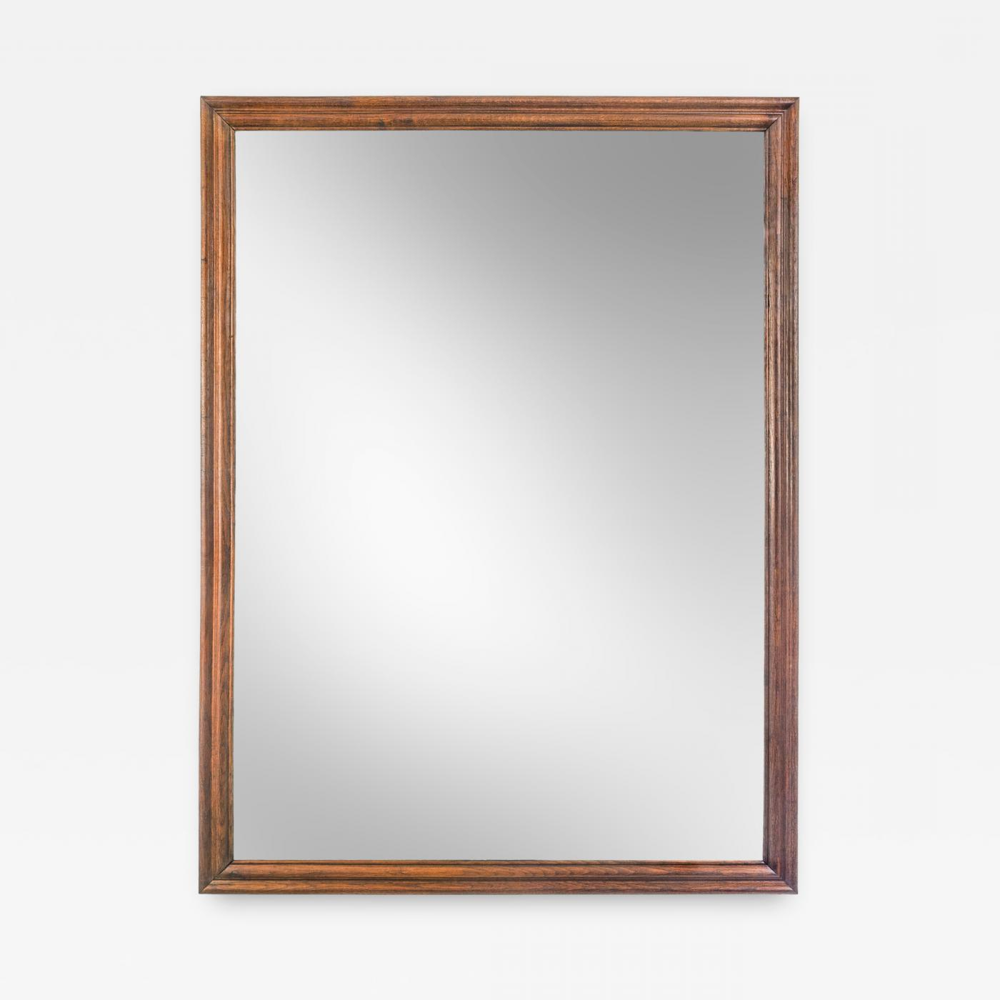 Widely Used Oak Framed Wall Mirrors In An English Large Oak Framed Mirror With Antique Glass (View 9 of 20)