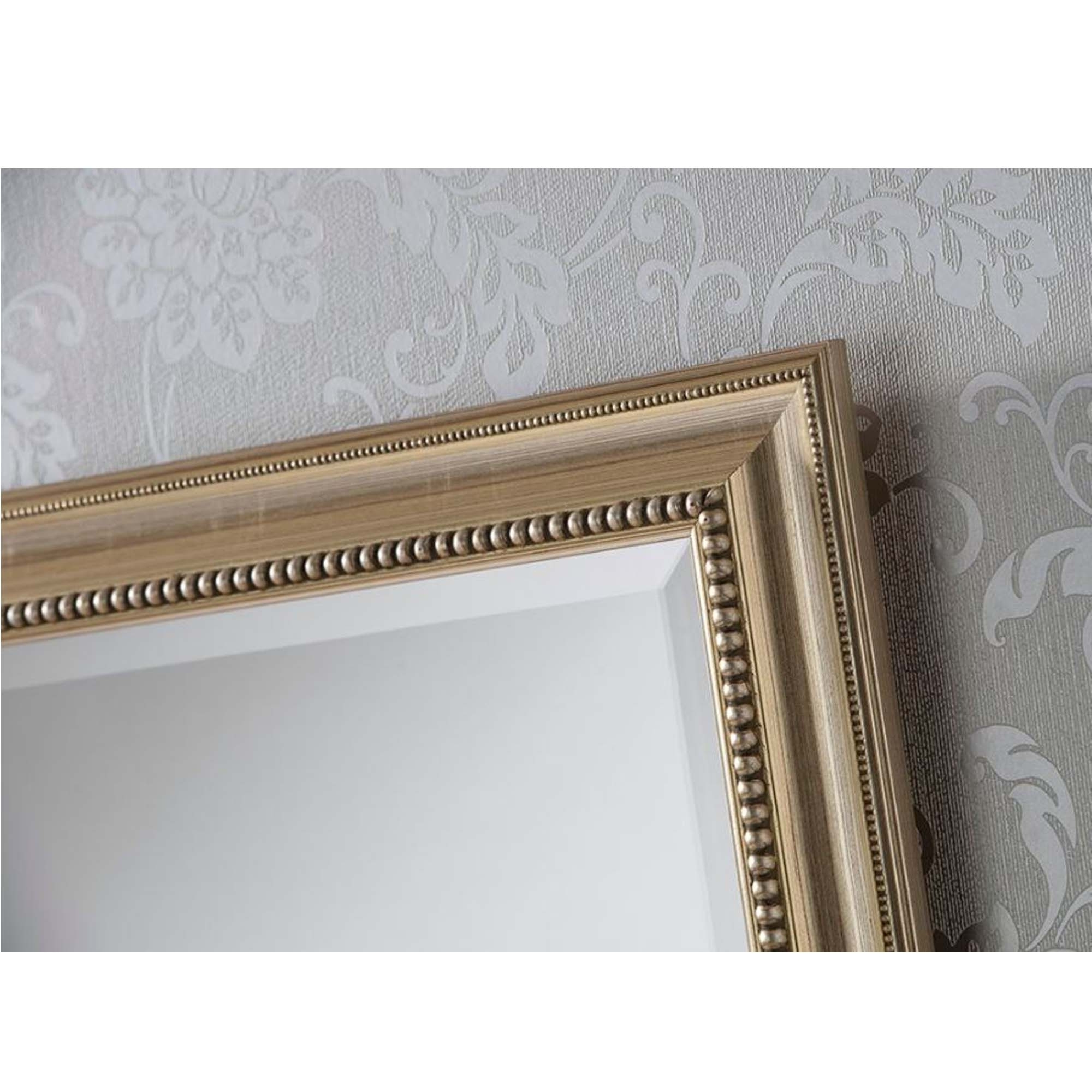 Widely Used Ornate Silver Beaded Rectangular Wall Mirror Regarding Silver Beaded Wall Mirrors (Gallery 14 of 20)