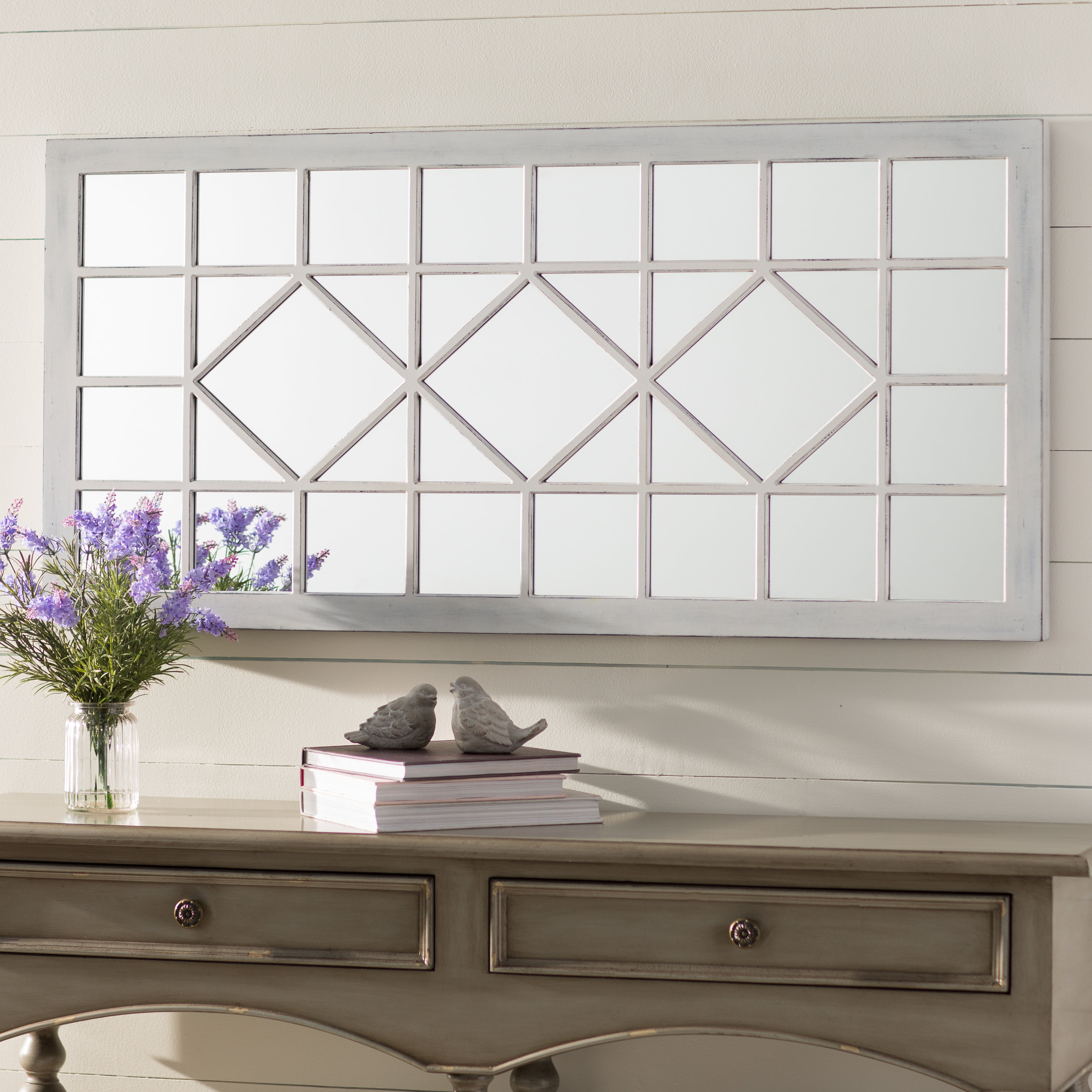 Widely Used Polito Cottage/country Wall Mirrors Pertaining To Ivory Wall Mirror (View 15 of 20)