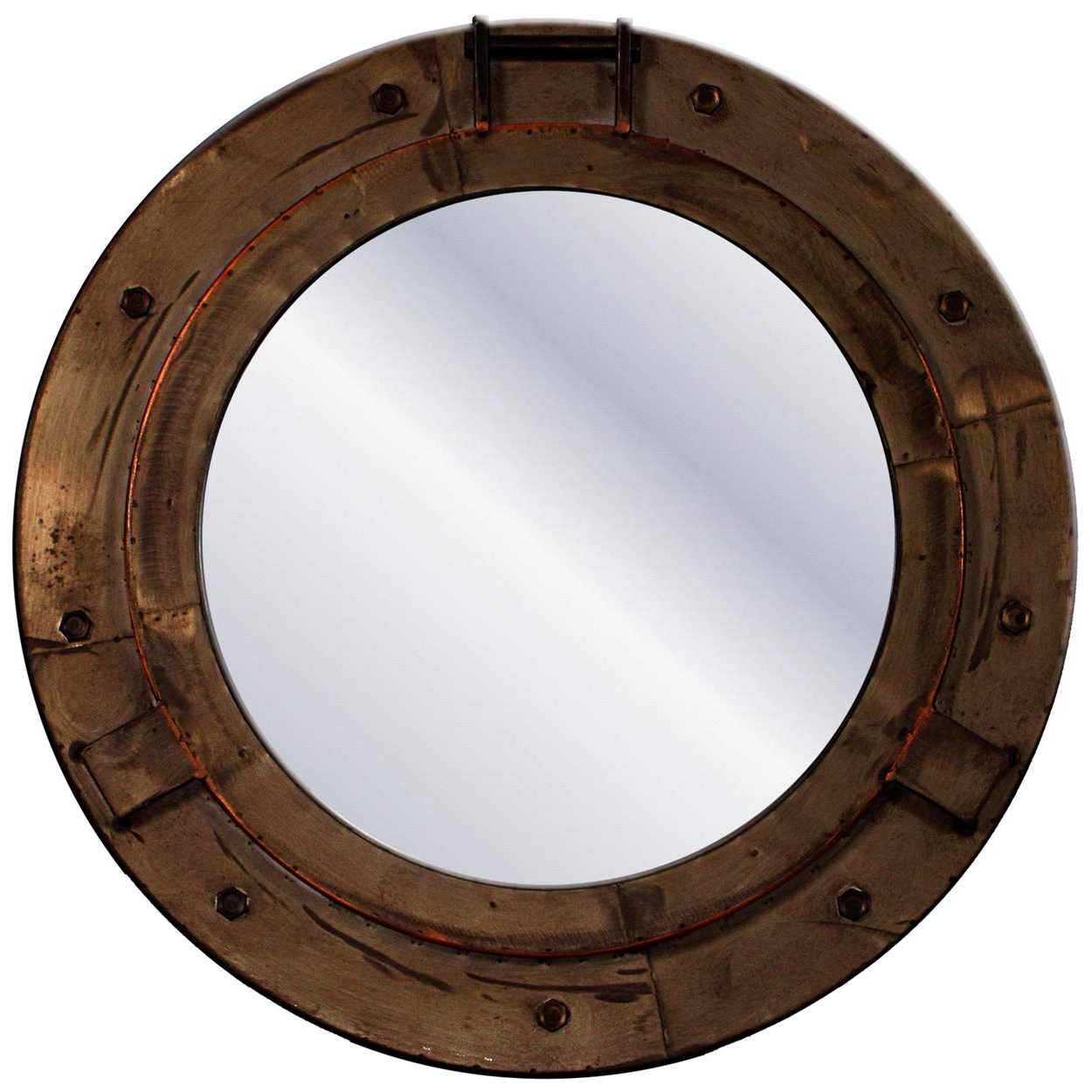 Widely Used Porthole Wall Mirrors Inside Carrick Design Metal Art Porthole Wall Mirror: Amazon.co (View 13 of 20)