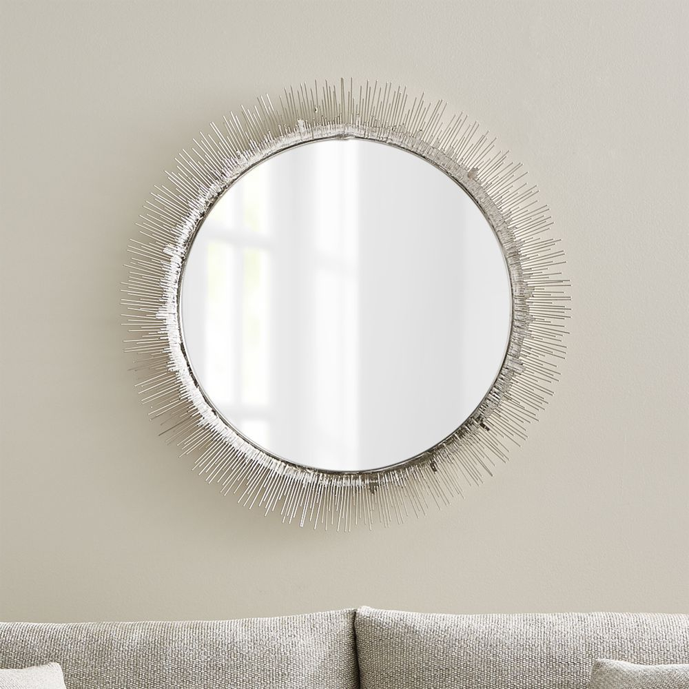 Widely Used Round Silver Wall Mirrors For Clarendon Large Round Silver Wall Mirror (View 20 of 20)