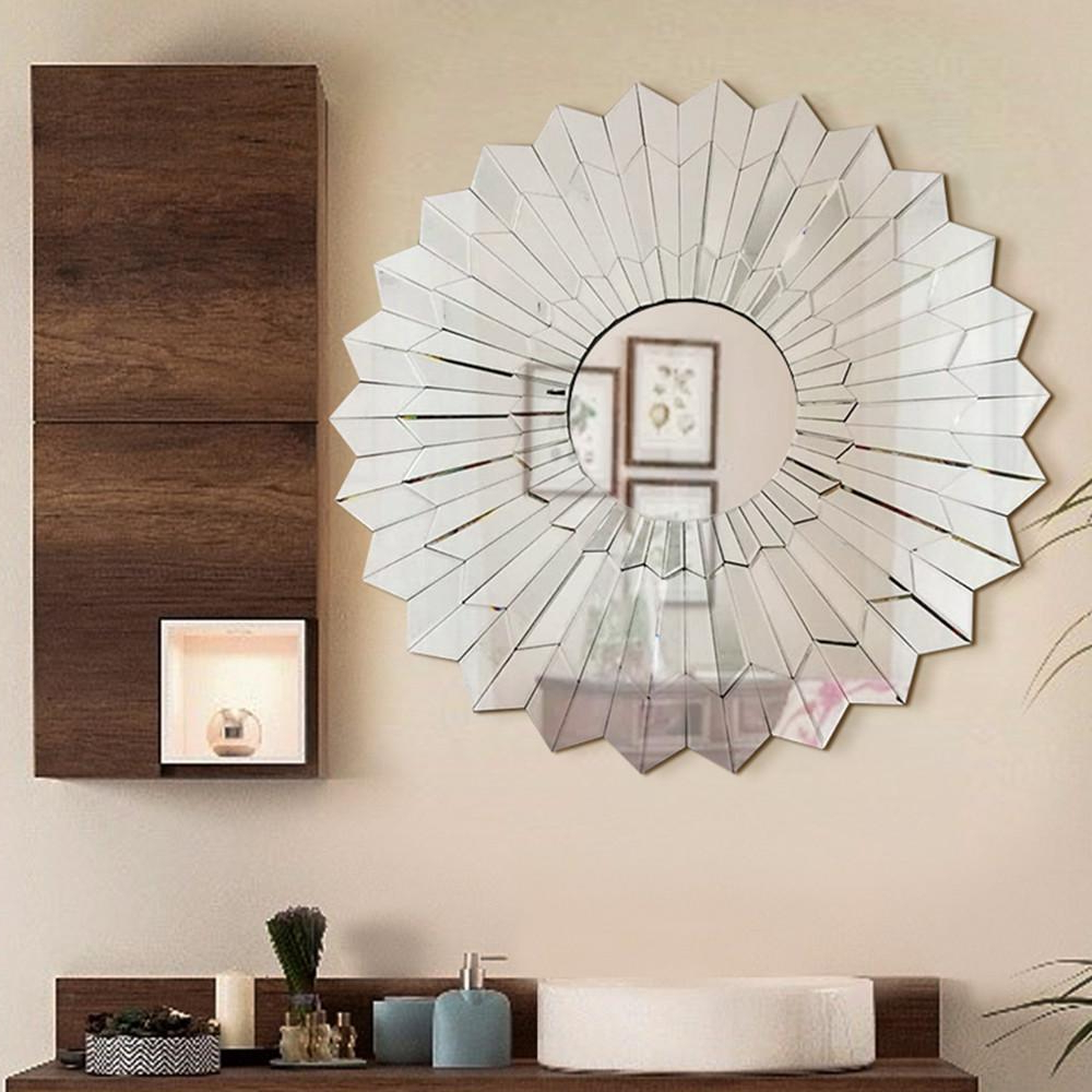 Widely Used Stylish Wall Mirrors Regarding Fab Glass And Mirror Unavoce 39.5 In. L X 39.5 In. W Stylish (Gallery 4 of 20)