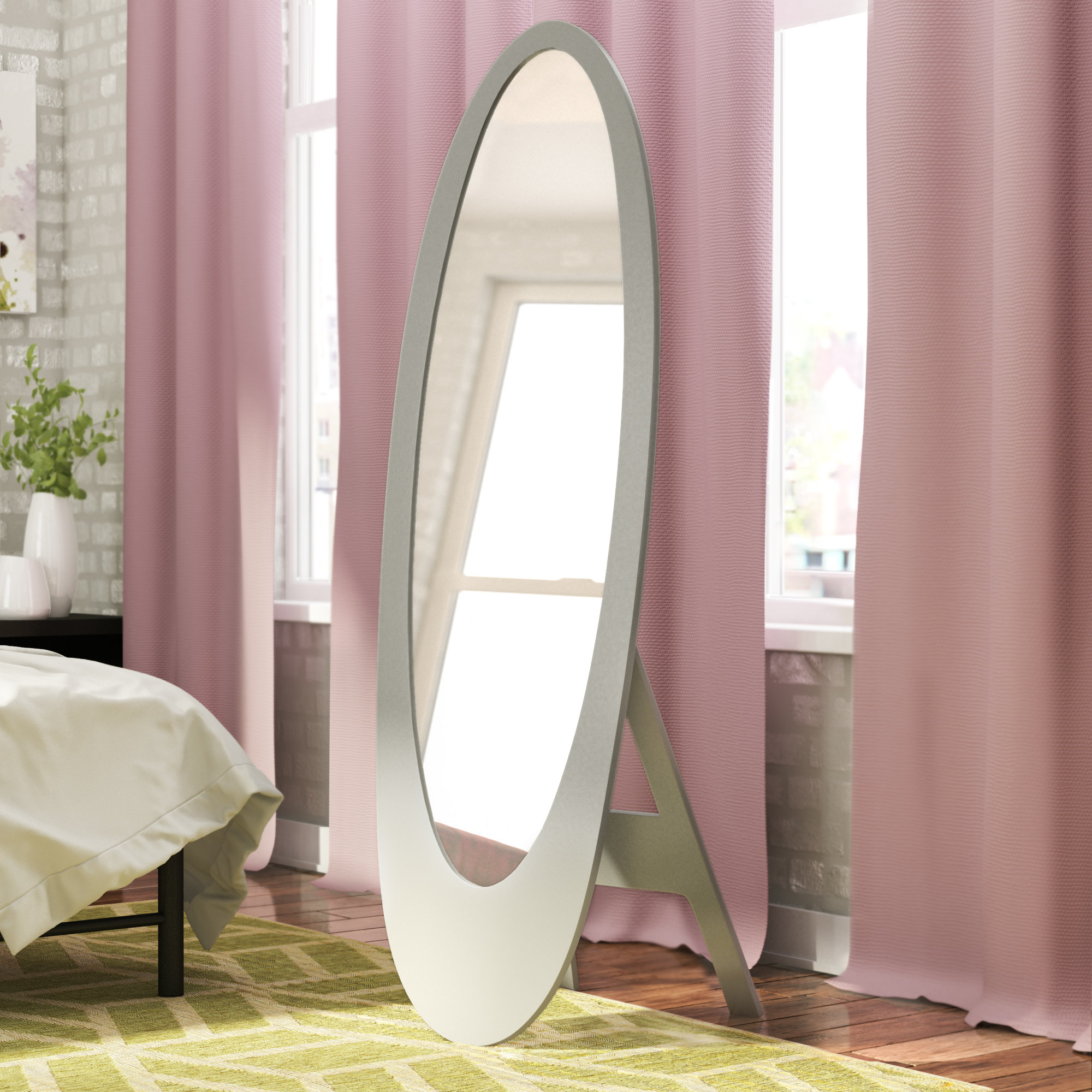 Widely Used Trigg Contemporary Oval Cheval Mirror Regarding Trigg Accent Mirrors (View 16 of 20)
