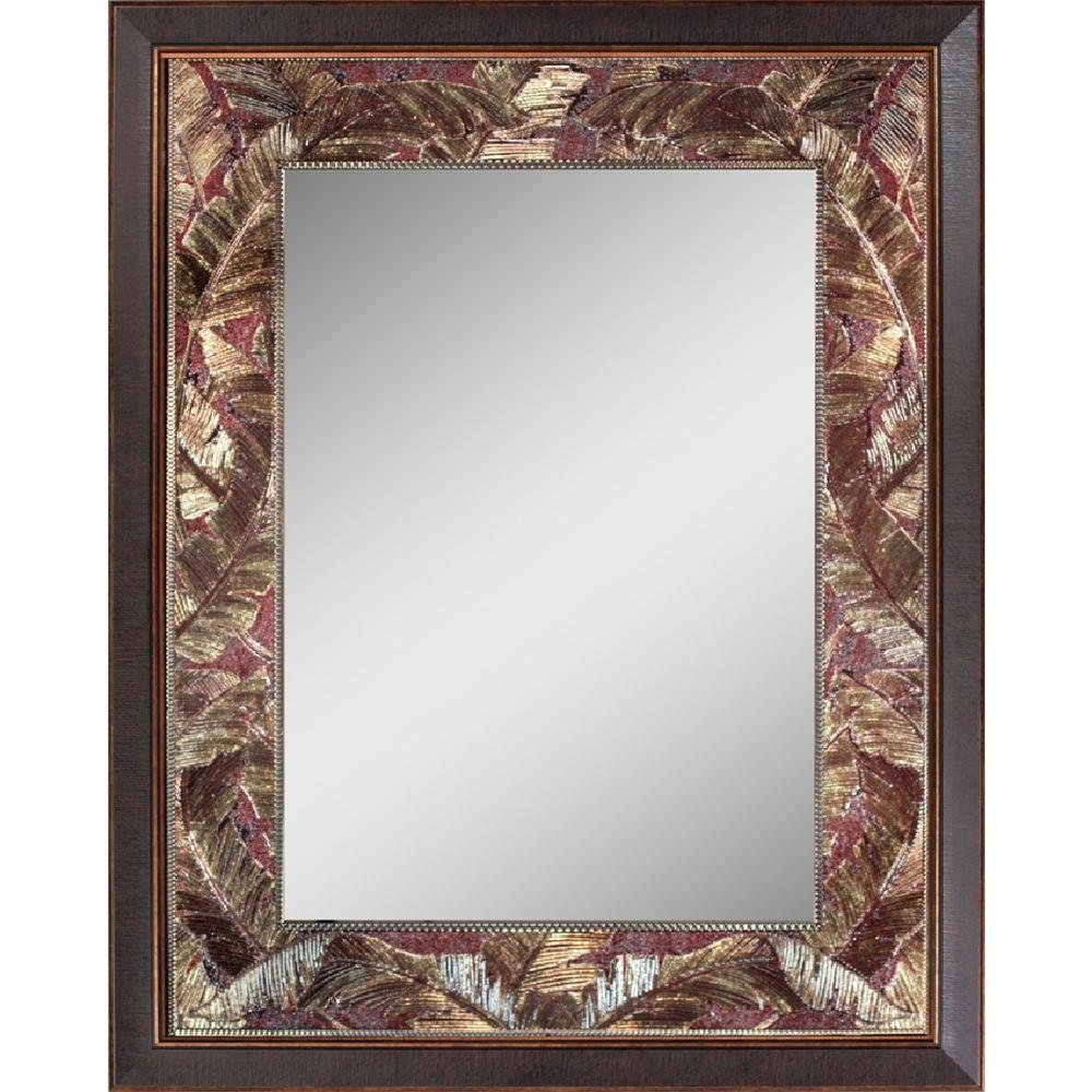 Widely Used Tropical Wall Mirrors Within Tropical Leaf Accent Wall Mirror (View 18 of 20)