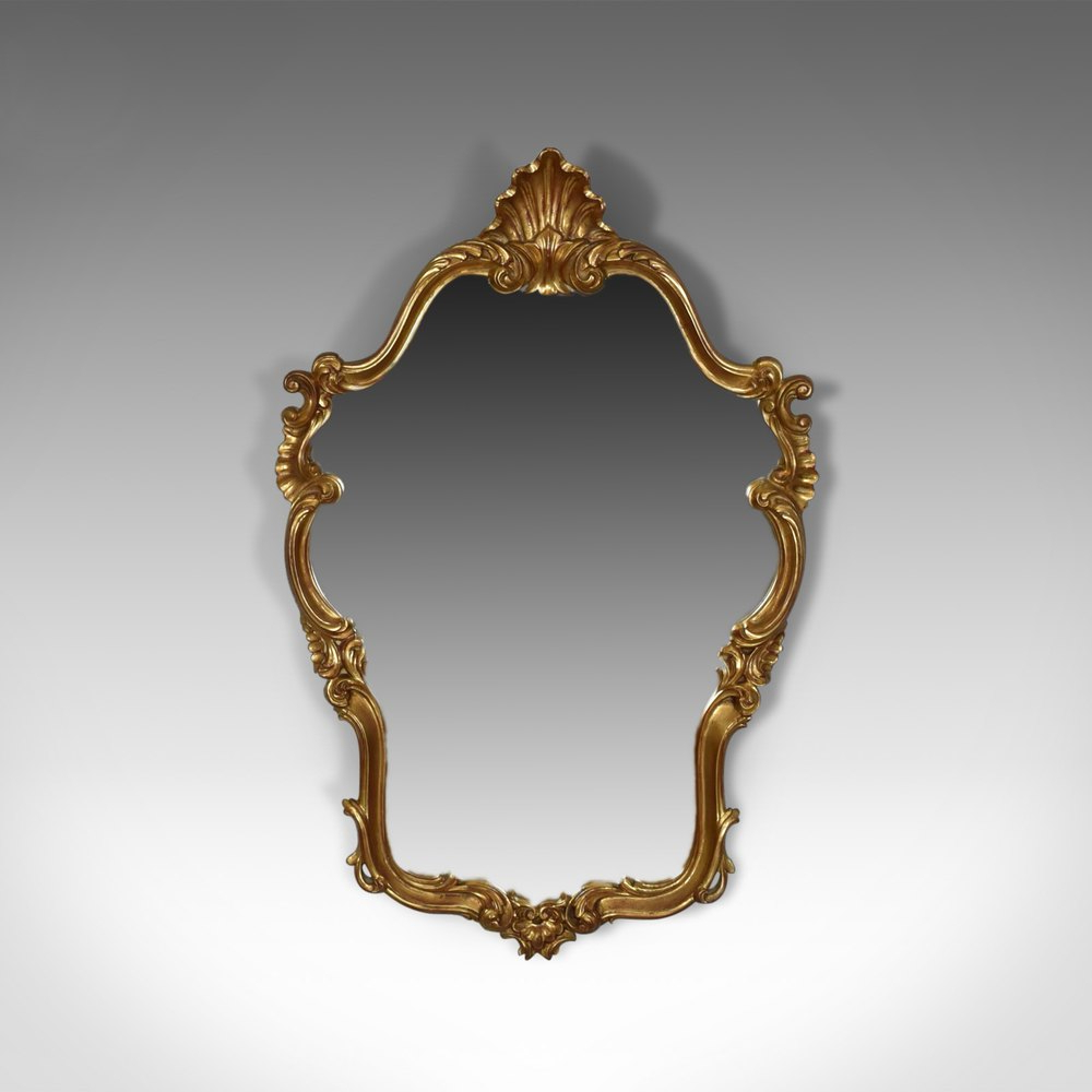Widely Used Vintage Wall Mirror, Victorian Rococo Revival Intended For Retro Wall Mirrors (View 12 of 20)