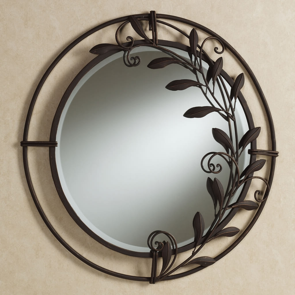 Widely Used Wrought Iron Wall Mirrors Decorative Plate Design Ideas Within Wrought Iron Wall Mirrors (View 6 of 20)