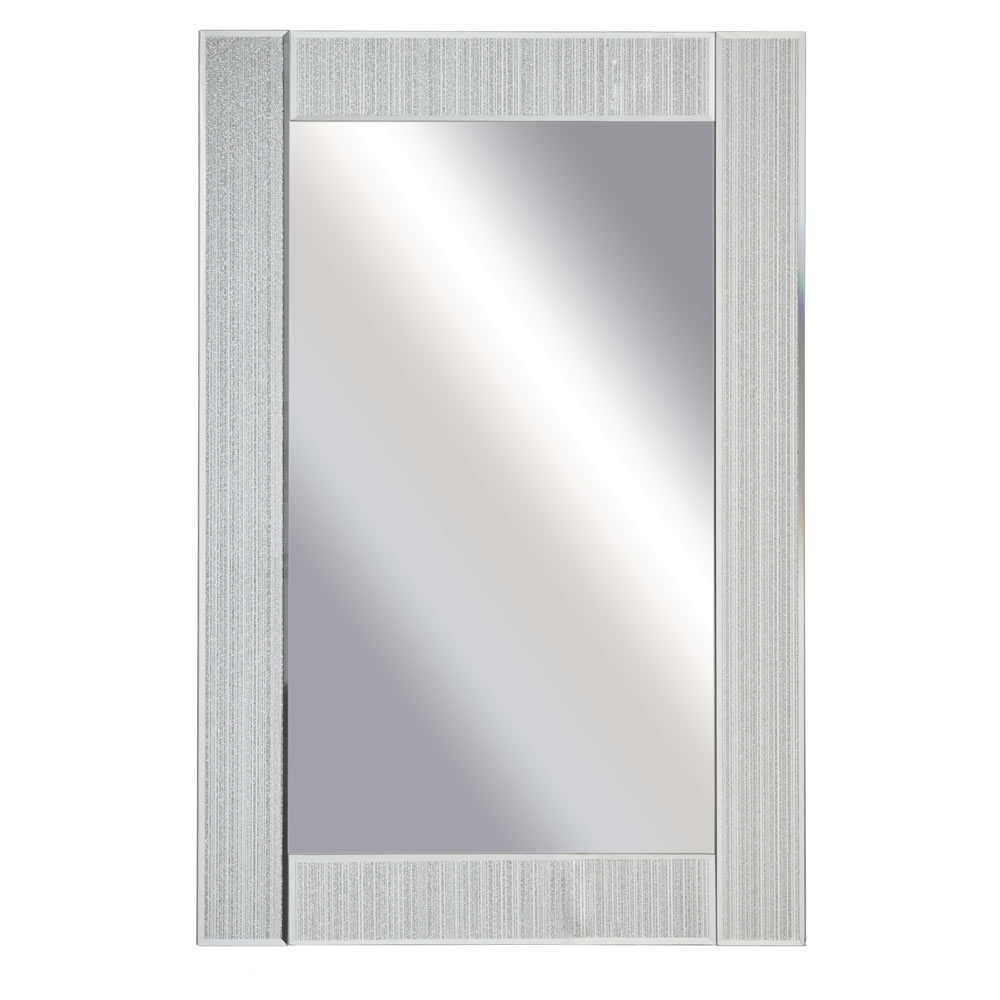 Wilko 60 X 90cm Glitter Frame Wall Mirror Within Famous Glitter Wall Mirrors (View 13 of 20)