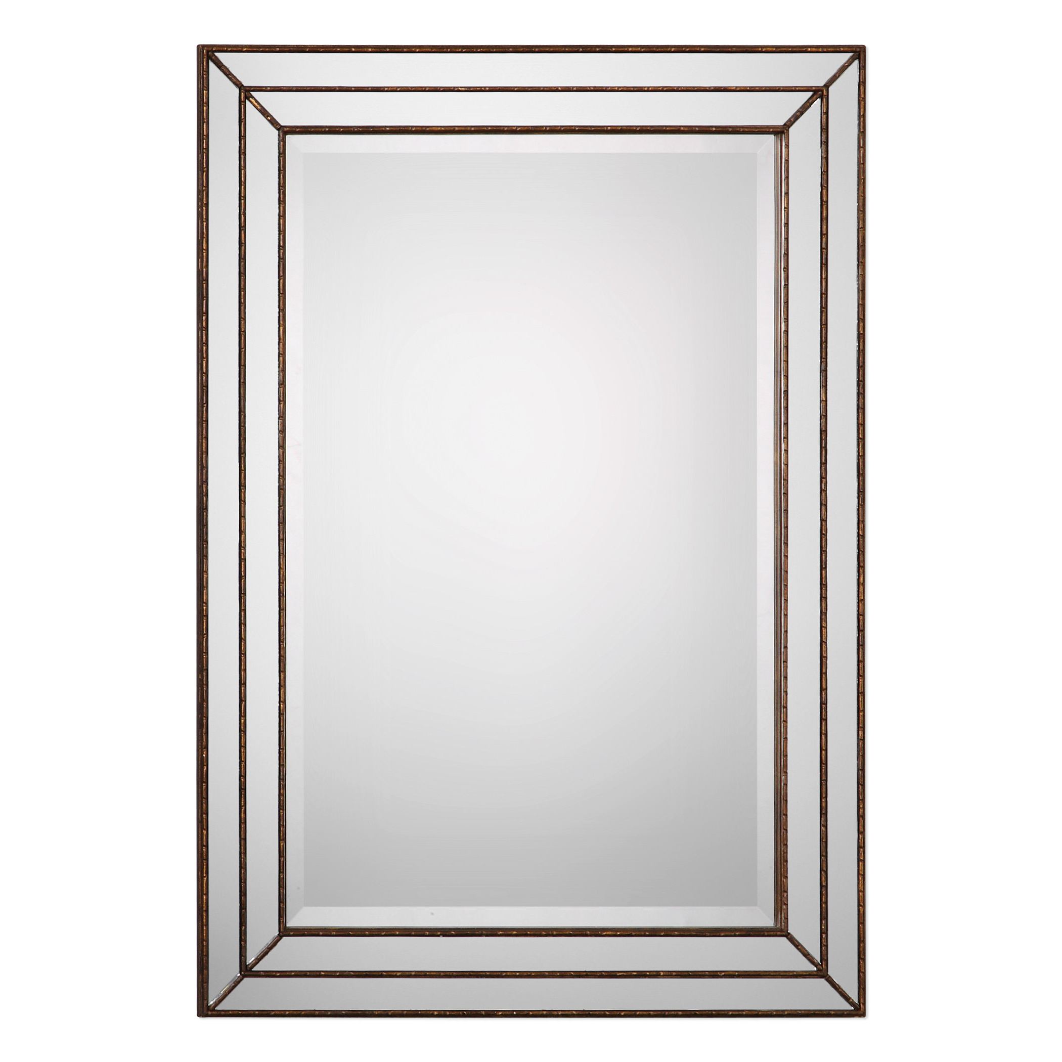Willacoochee Traditional Beveled Accent Mirror Within Preferred Tetbury Frameless Tri Bevel Wall Mirrors (View 6 of 20)