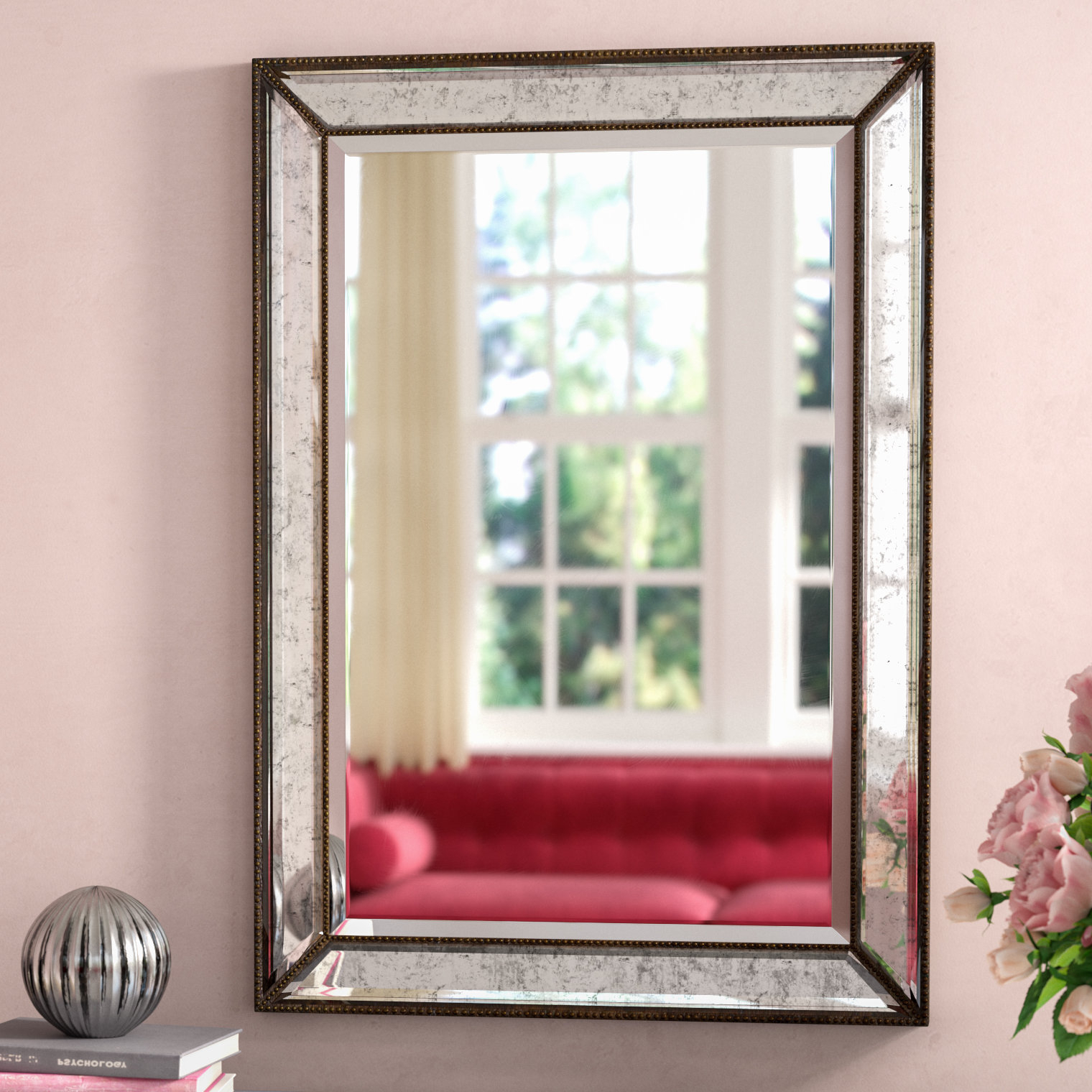 Willacoochee Traditional Beveled Accent Mirrors Inside Well Known Marsha Traditional Rectangle Mdf/mirror Framed Accent Mirror (View 16 of 20)