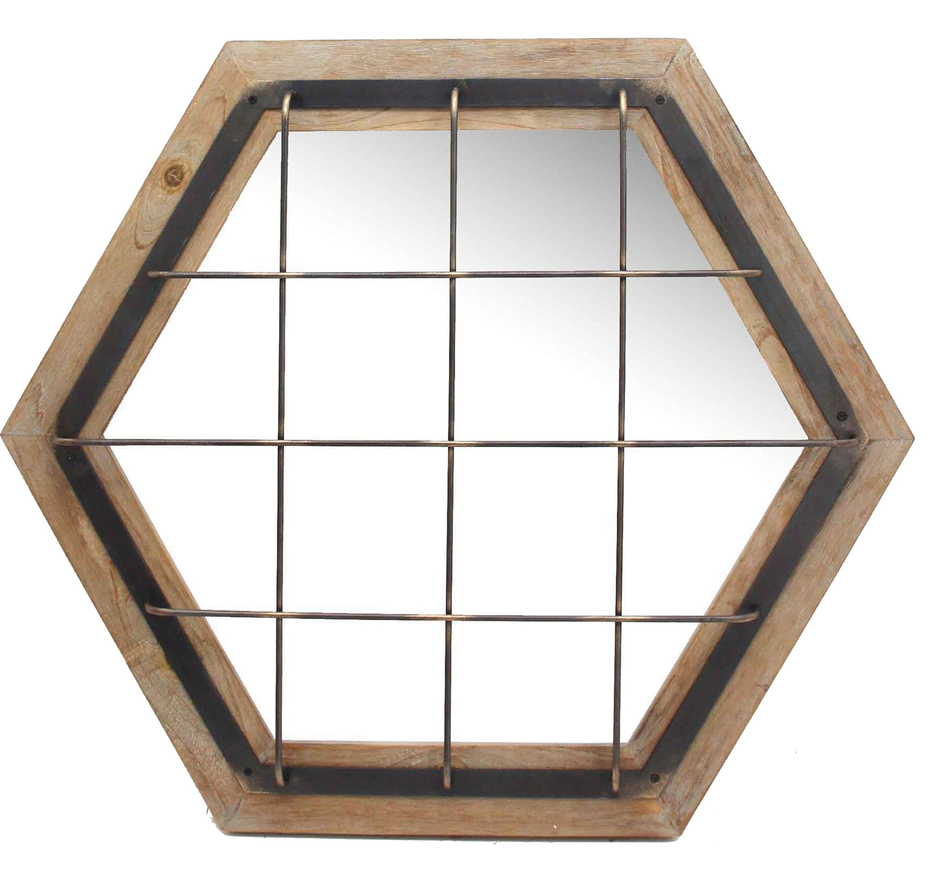 Willacoochee Traditional Beveled Accent Mirrors With Best And Newest Laughlin Caged Hexagon Modern Accent Mirror (View 19 of 20)