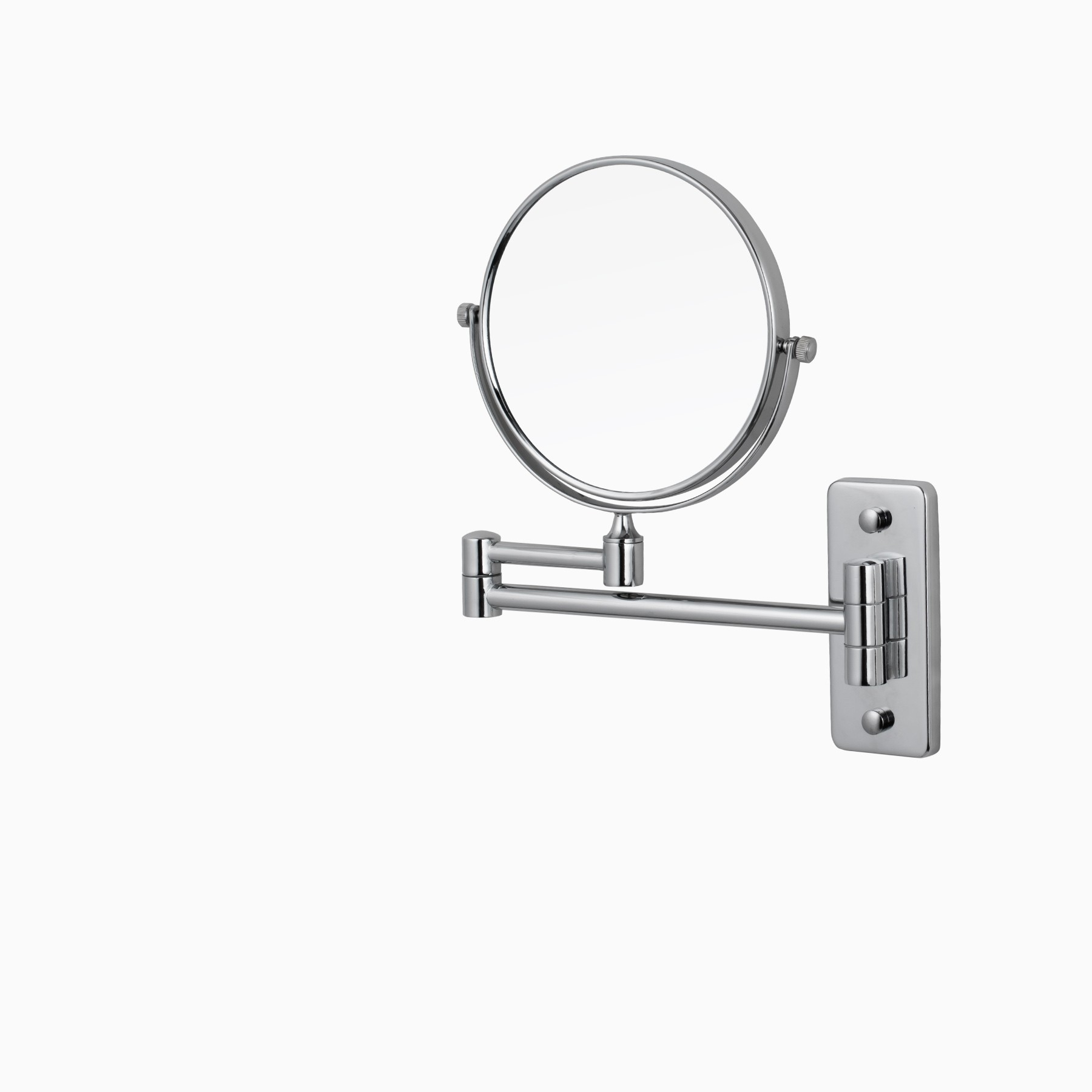 Windor Wall Mount Make Up Mirror With Adjustable Arm, Polished Chrome For Well Known Adjustable Wall Mirrors (Gallery 6 of 20)