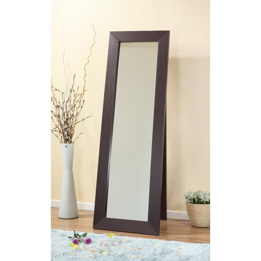 Wood Accent Mirrors Throughout Current Aesthetic Accent Mirror With Wooden Framing, Dark Brownbenzara (View 19 of 20)