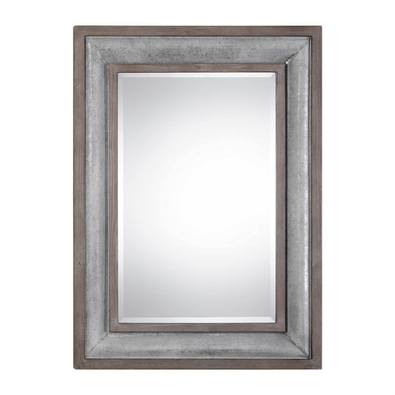 Wood, Metal & Farmhouse Framed Mirrors (View 17 of 20)