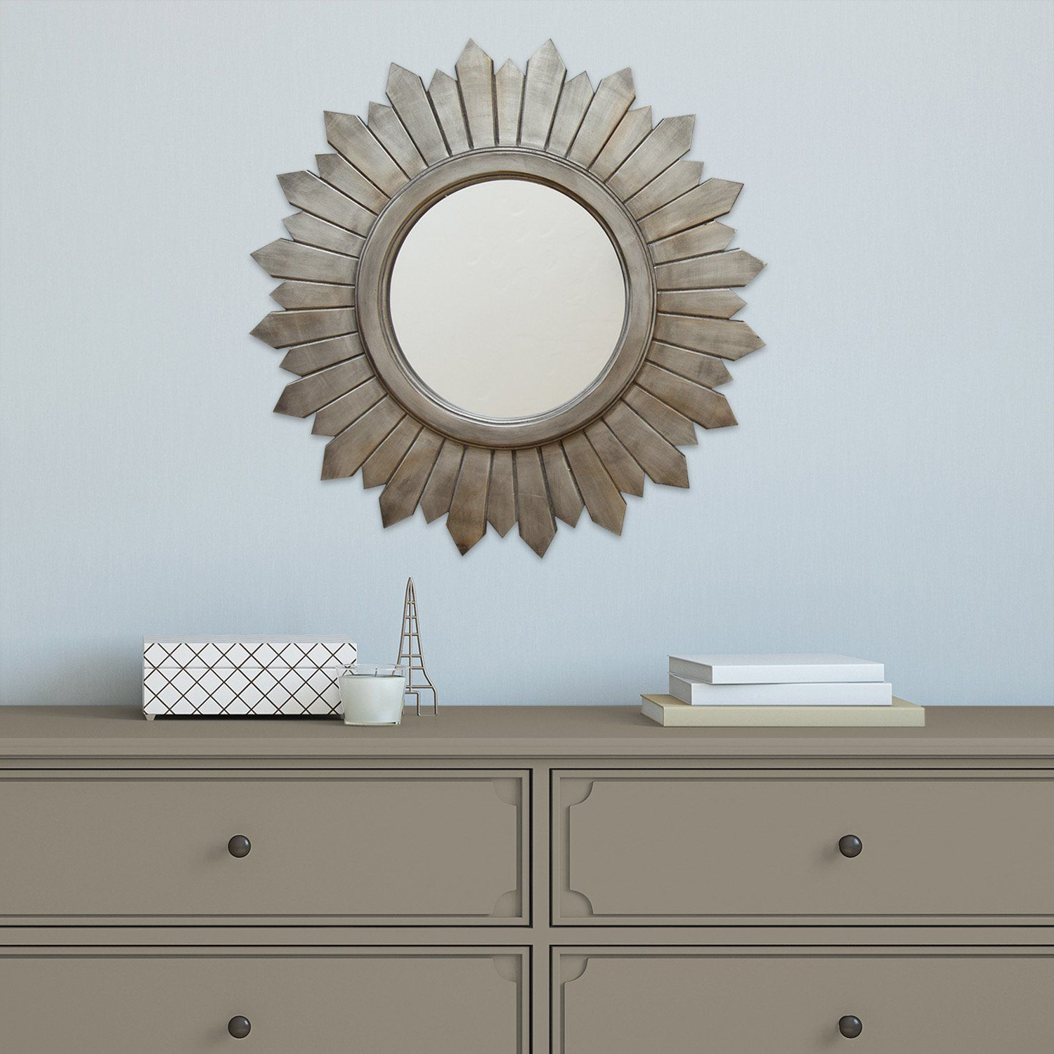 Wood Mirror, Silver (Gallery 7 of 20)