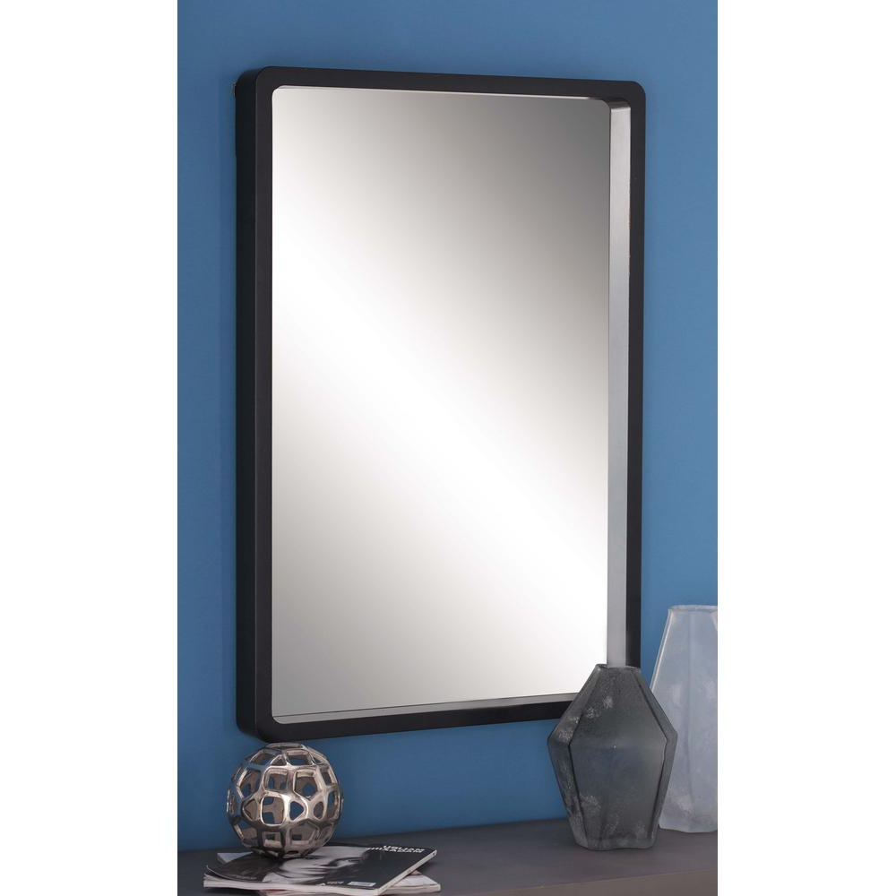 Wood Wall Mirrors Rustic Wall Modern Rectangular Framed Wall Mirror With Regard To Famous Janie Rectangular Wall Mirrors (Gallery 11 of 20)