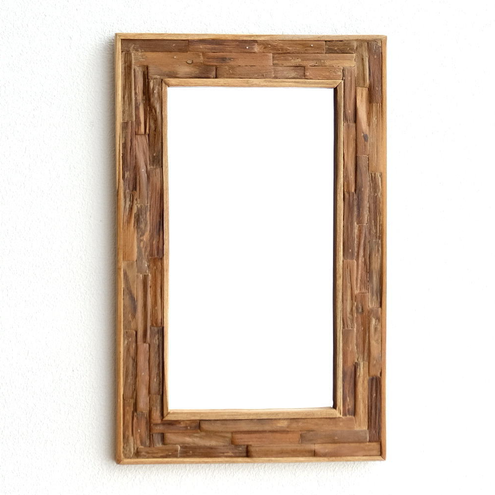 Wood Wall Mirrors With Fashionable Mirror Wall Hanging Mirror Wall Mirror Wood Wall Mirror Mirror Fashionable  Wood Mirror Natural Wood Antique Asian Modern Retro Door Living Toilet (View 19 of 20)