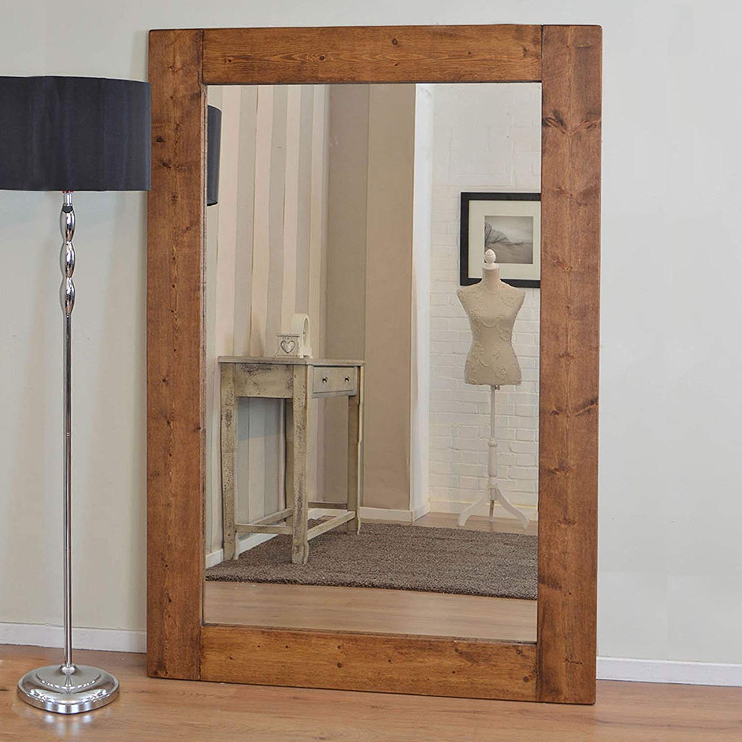 Wood Wall Mirrors With Most Recent Large Solid Wood Wall Mirror 6Ft X 4Ft (183Cm X 122Cm) (View 20 of 20)