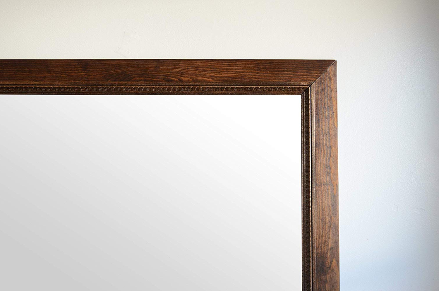 Wooden Wall Mirrors Regarding Preferred Amazon: Rustic Wooden Wall Mirror W/decorative Trim (View 17 of 20)