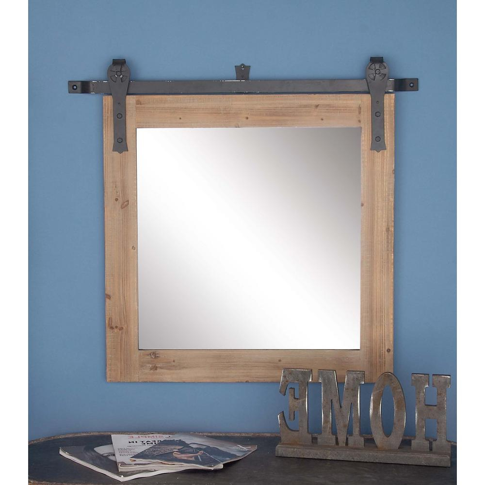 Wooden Wall Mirrors Regarding Well Liked 31 In. X 34 In (View 18 of 20)