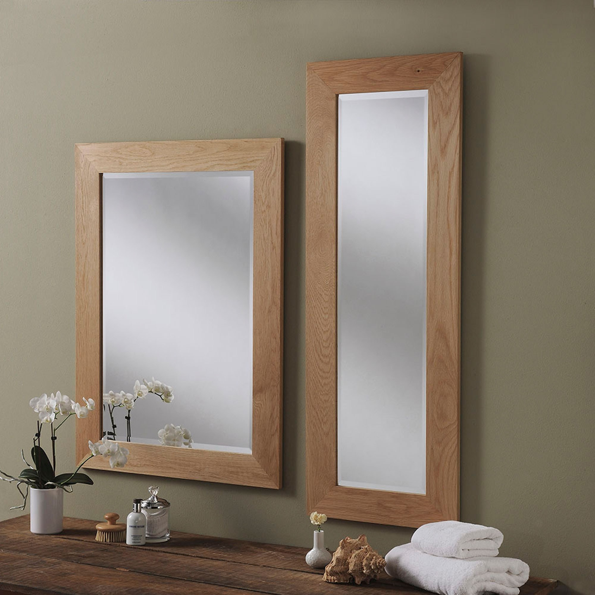Wooden Wall Mirrors Throughout Current Solid Oak Wall Mirror (View 4 of 20)