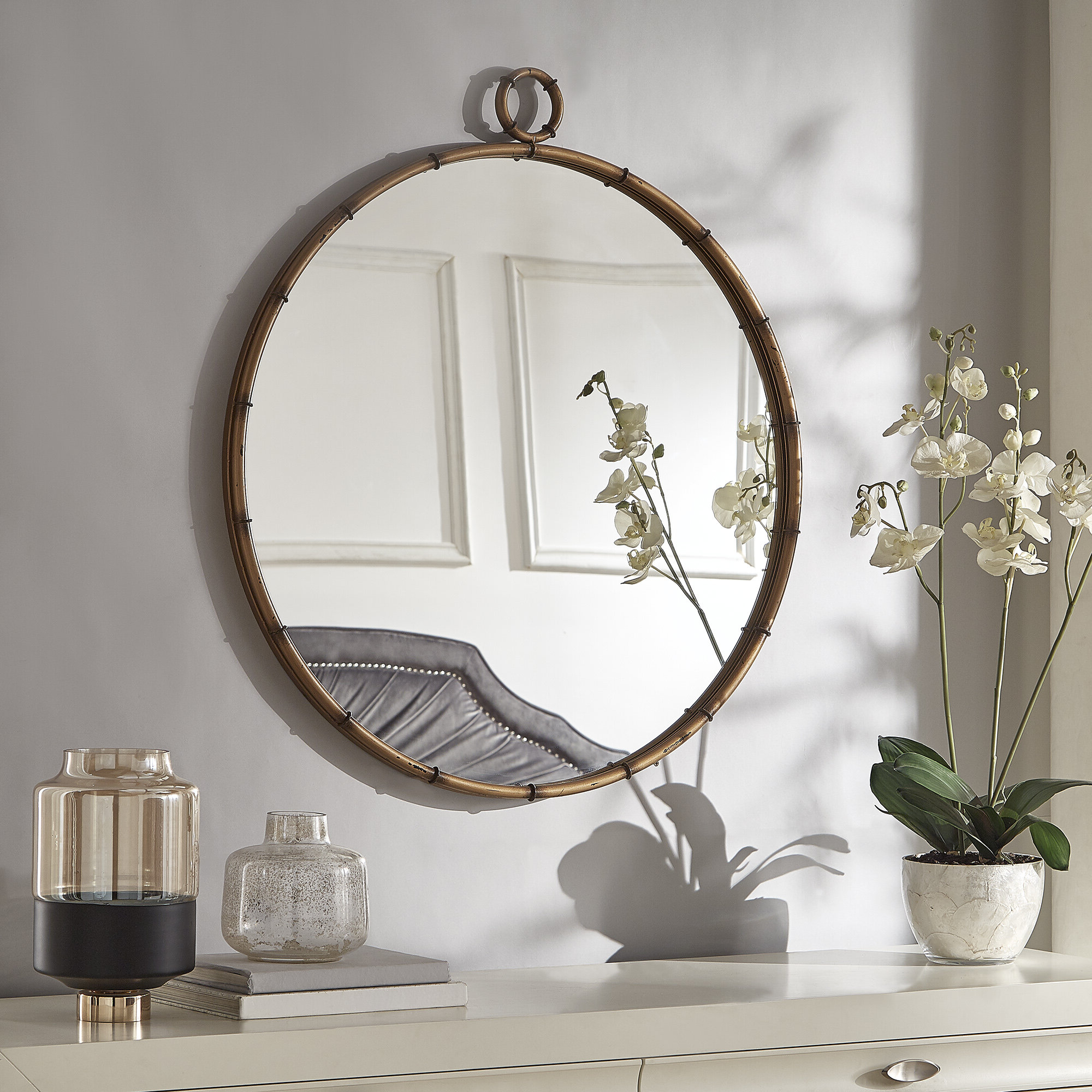 Zadie Modern And Contemporary Accent Mirror Inside Famous Yedinak Modern Distressed Accent Mirrors (View 3 of 20)
