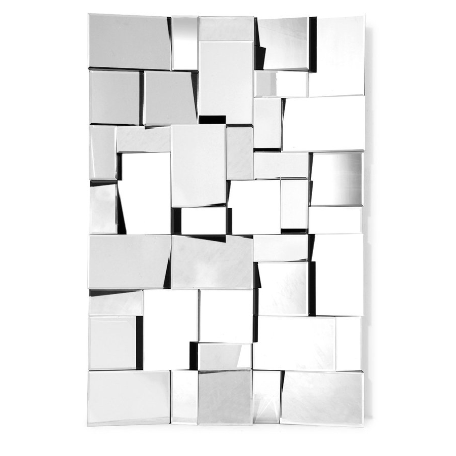 Zuo Modern Fractal Silver Polished Frameless Wall Mirror At Inside Most Popular Trendy Wall Mirrors (View 14 of 20)