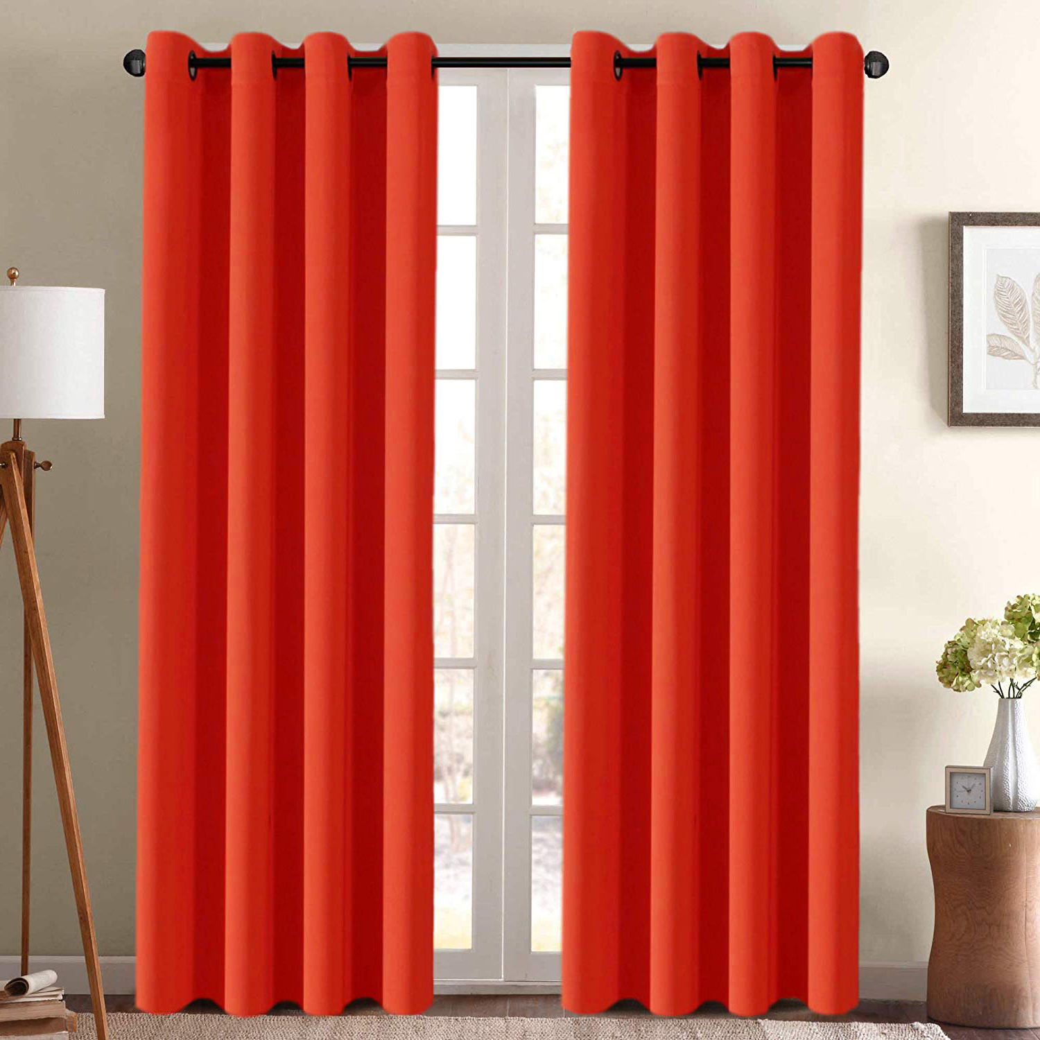 2 Pack Faux Silk Curtain Panels – Assorted C (View 20 of 20)