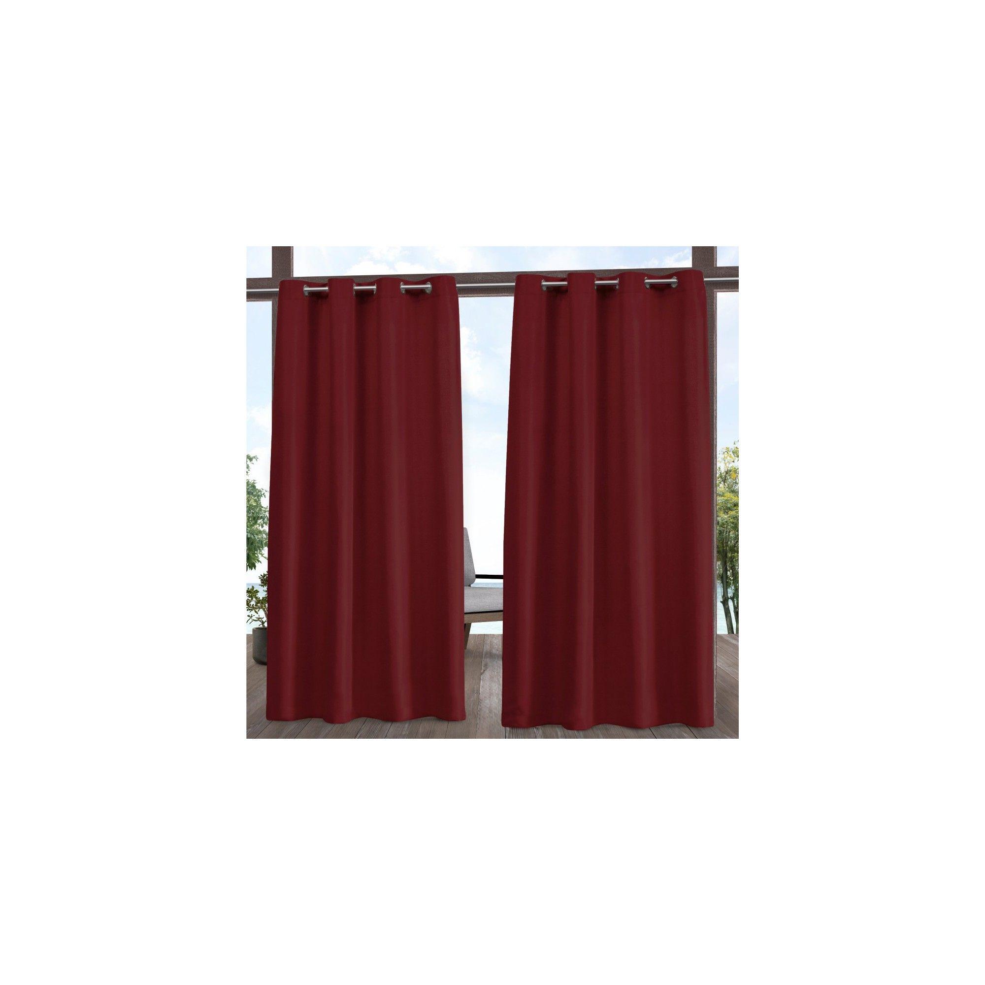 """2020 54""""x108"""" Indoor/outdoor Solid Cabana Grommet Top Window Pertaining To Indoor/outdoor Solid Cabana Grommet Top Curtain Panel Pairs (View 13 of 20)"""