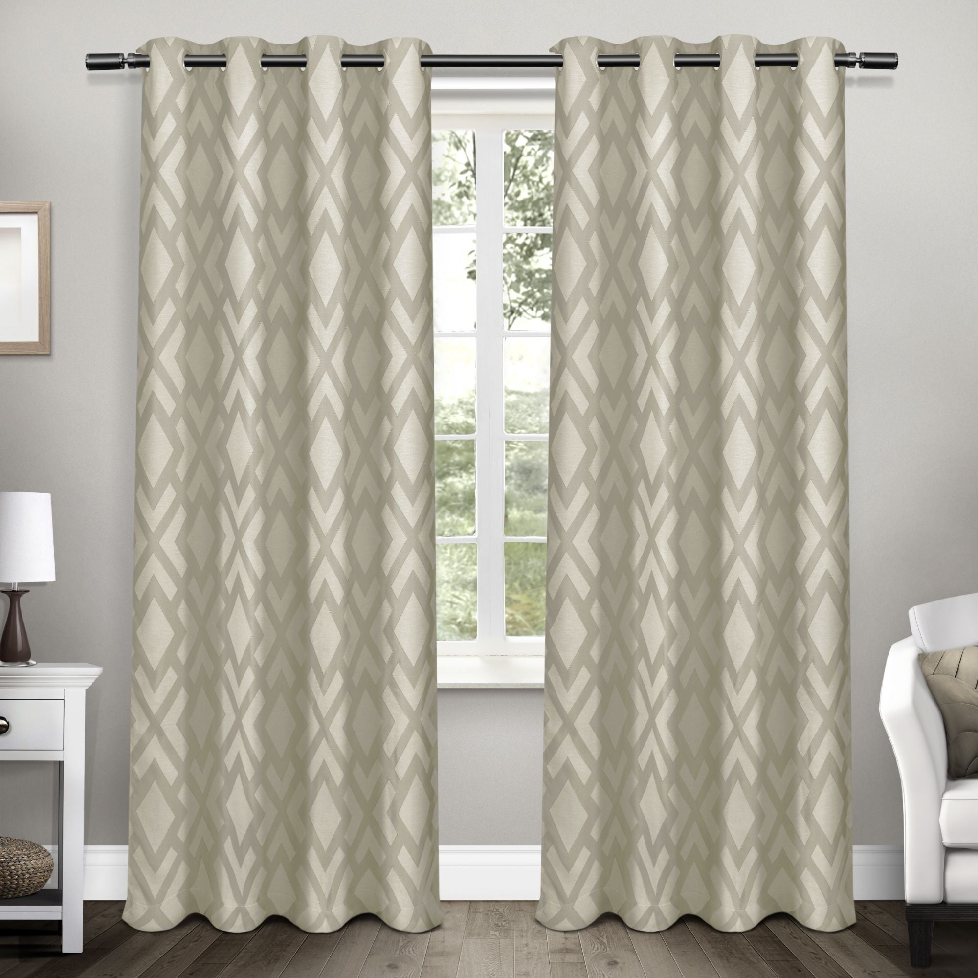 2020 Ati Home Easton Thermal Woven Blackout Grommet Top Curtain Panel Pair Inside Twig Insulated Blackout Curtain Panel Pairs With Grommet Top (View 10 of 20)