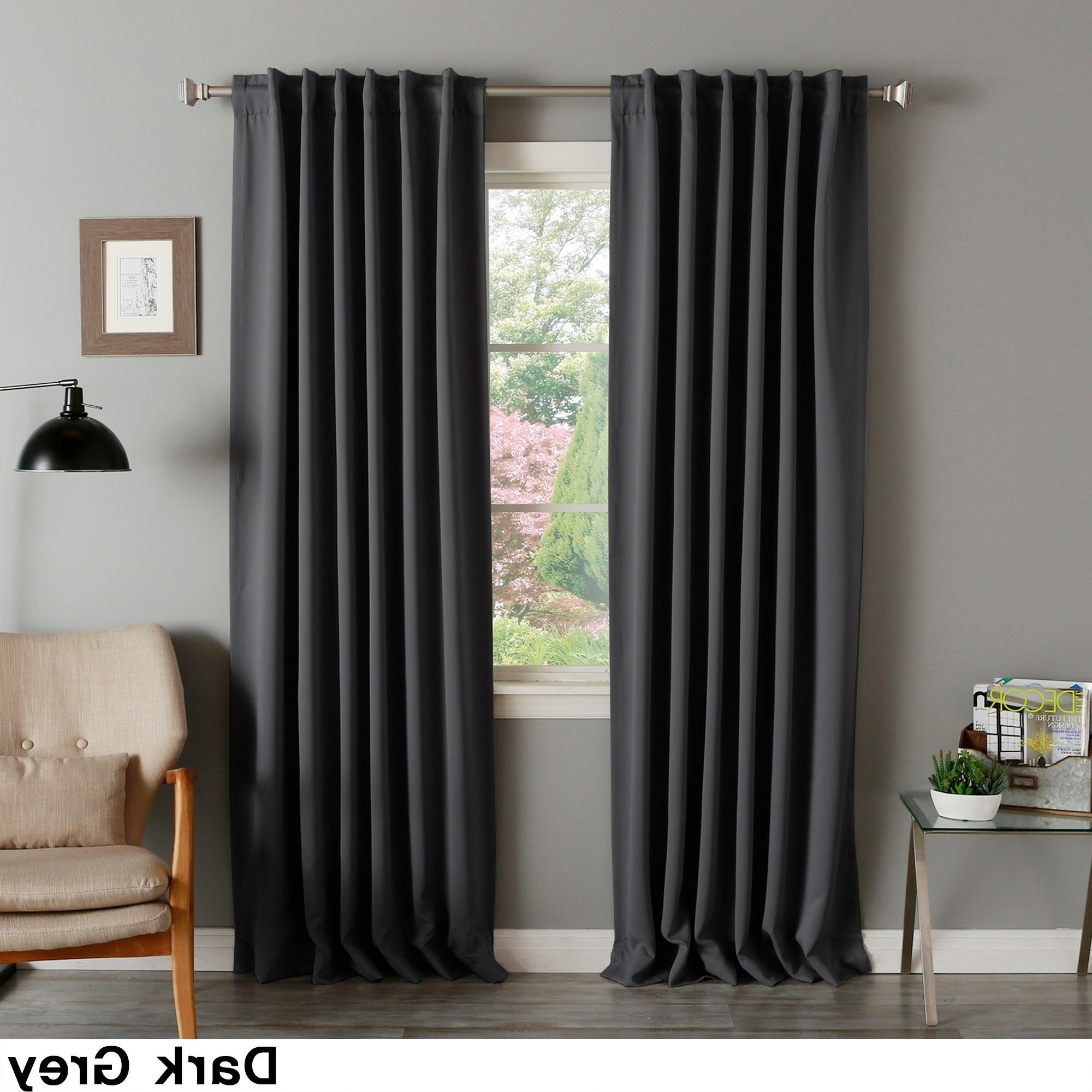 2020 Aurora Home Solid Thermal Insulated 108 Inch Blackout Curtain Panel Pair – 52 X 108 In Thermal Insulated Blackout Curtain Pairs (View 12 of 20)