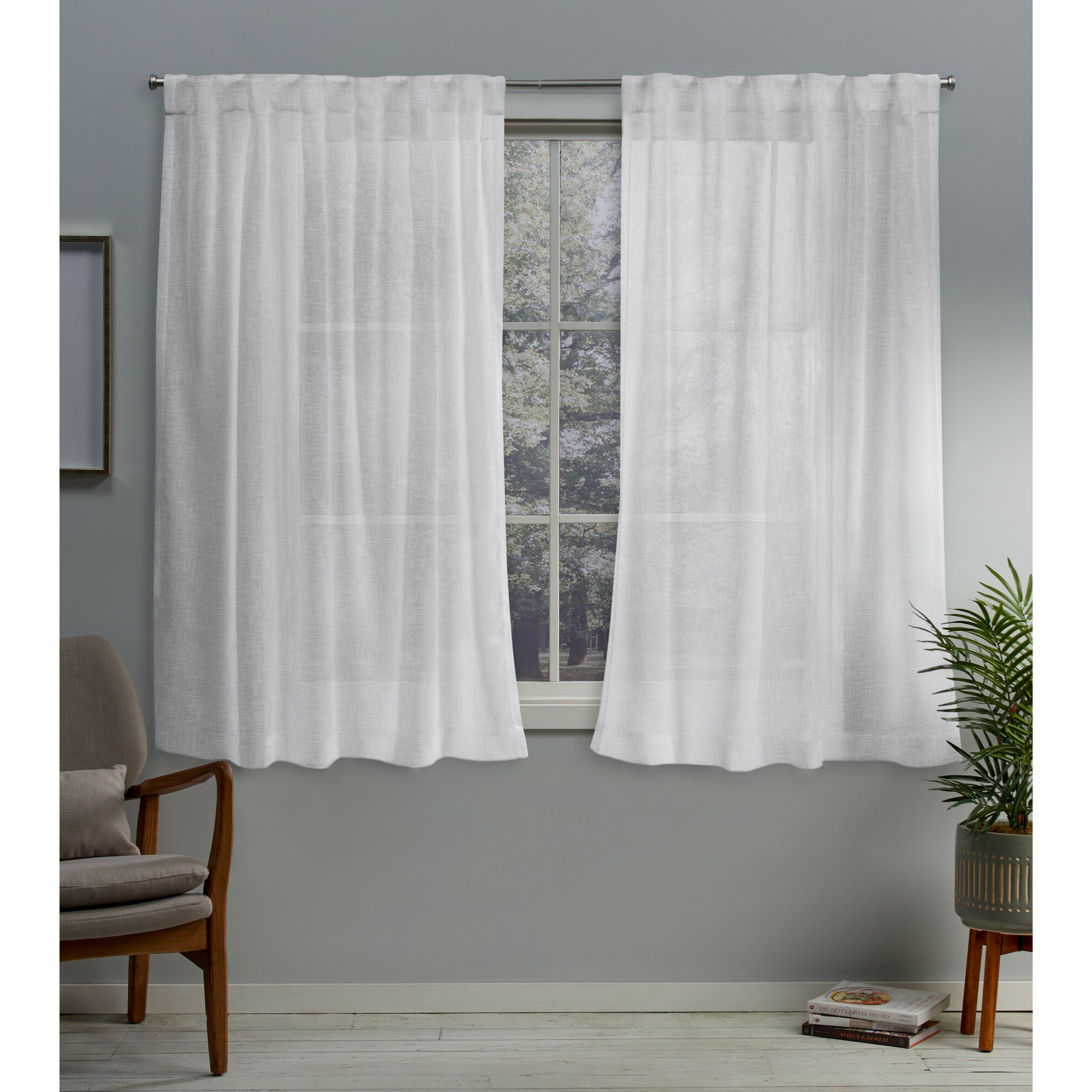 2020 Callanan Solid Sheer Pinch Pleat Panel Pair For Double Pinch Pleat Top Curtain Panel Pairs (View 1 of 20)