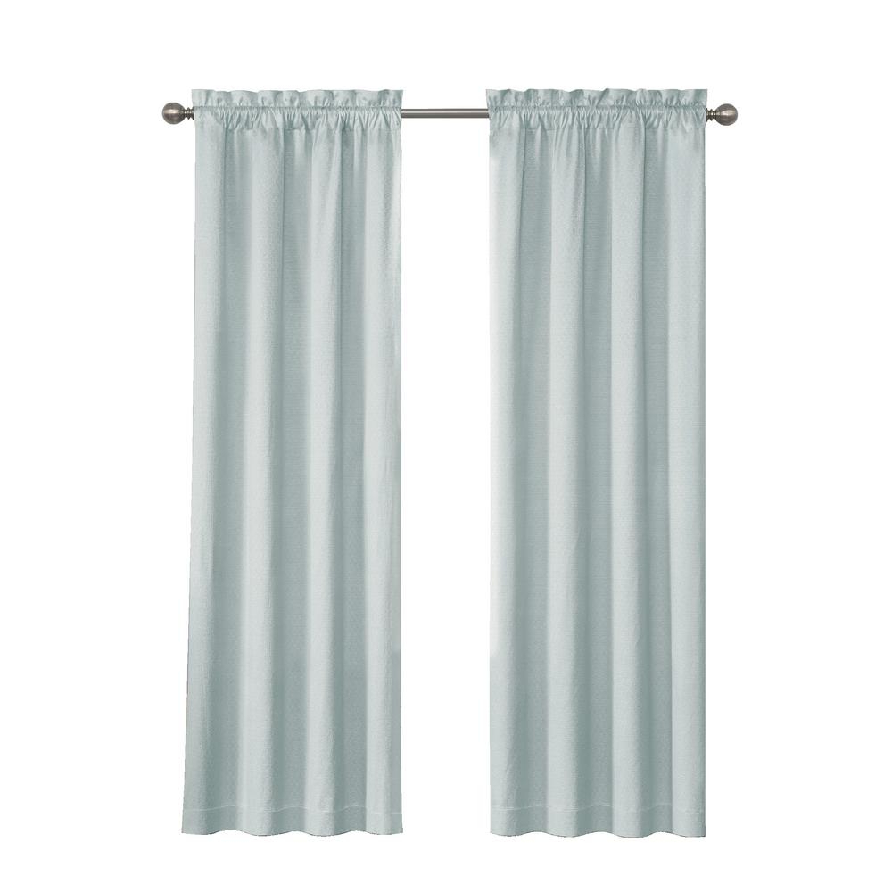 2020 Eclipse Canova Blackout Window Curtain Panel In River Blue – 42 In. W X 63 In (View 13 of 20)