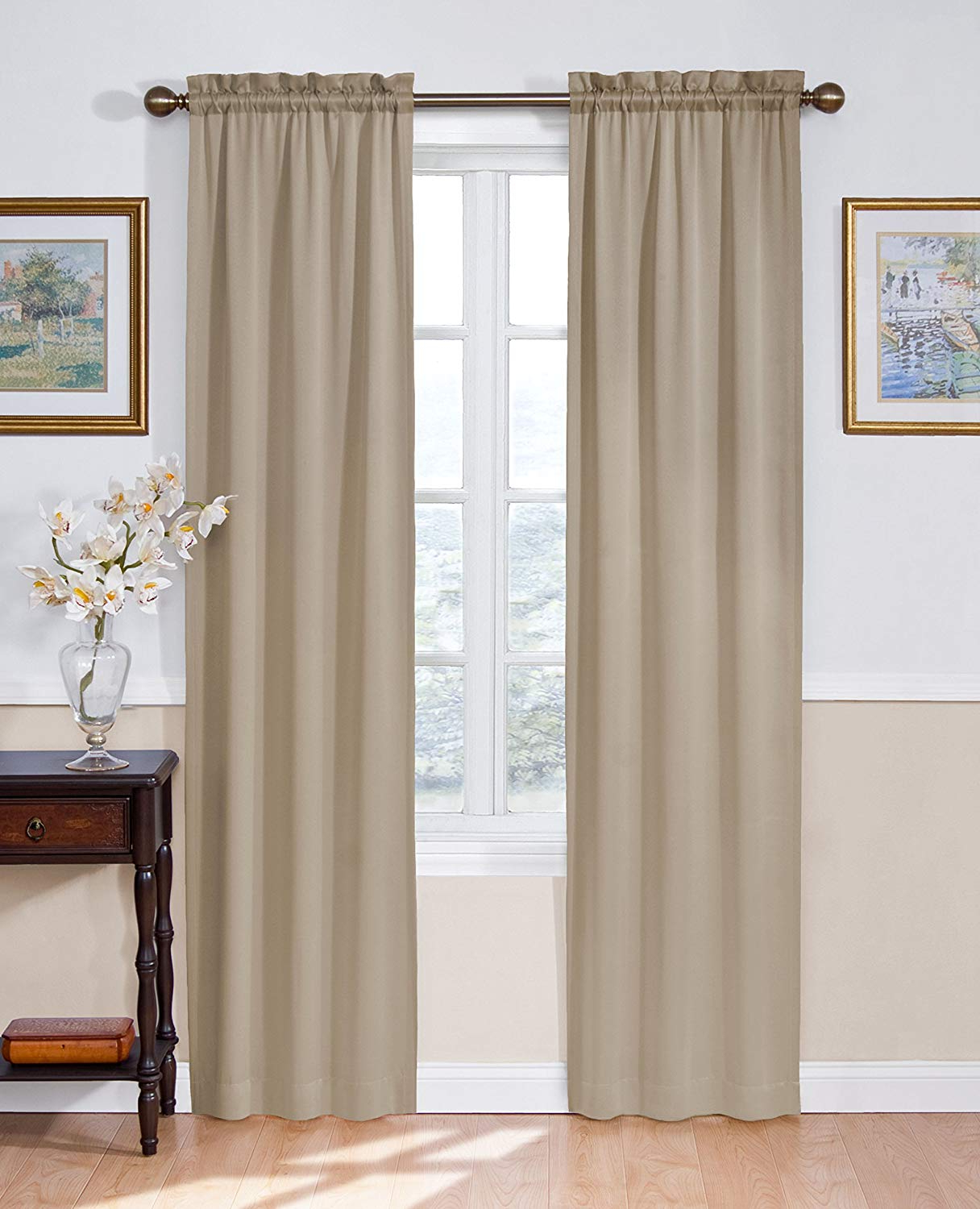 "2020 Eclipse Room Darkening Curtains For Bedroom – Solid Thermapanel 54"" X 84"" Thermal Insulated Single Panel Rod Pocket Light Blocking Curtains For Living For Eclipse Solid Thermapanel Room Darkening Single Panel (View 5 of 20)"
