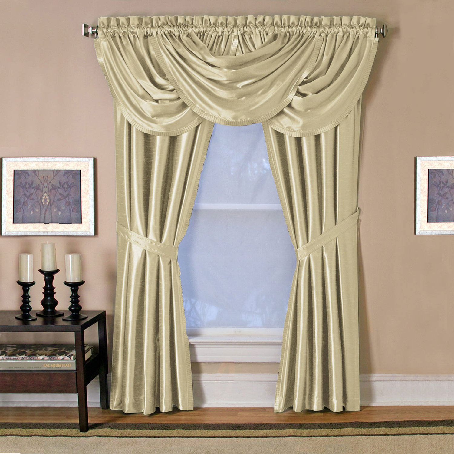 "2020 Elrene Versailles Pleated Blackout Curtain Panels Regarding Elrene Versailles Pleated Blackout Curtain Panel Ivory 52"" Wx 95"" L 95 Inches (View 4 of 20)"