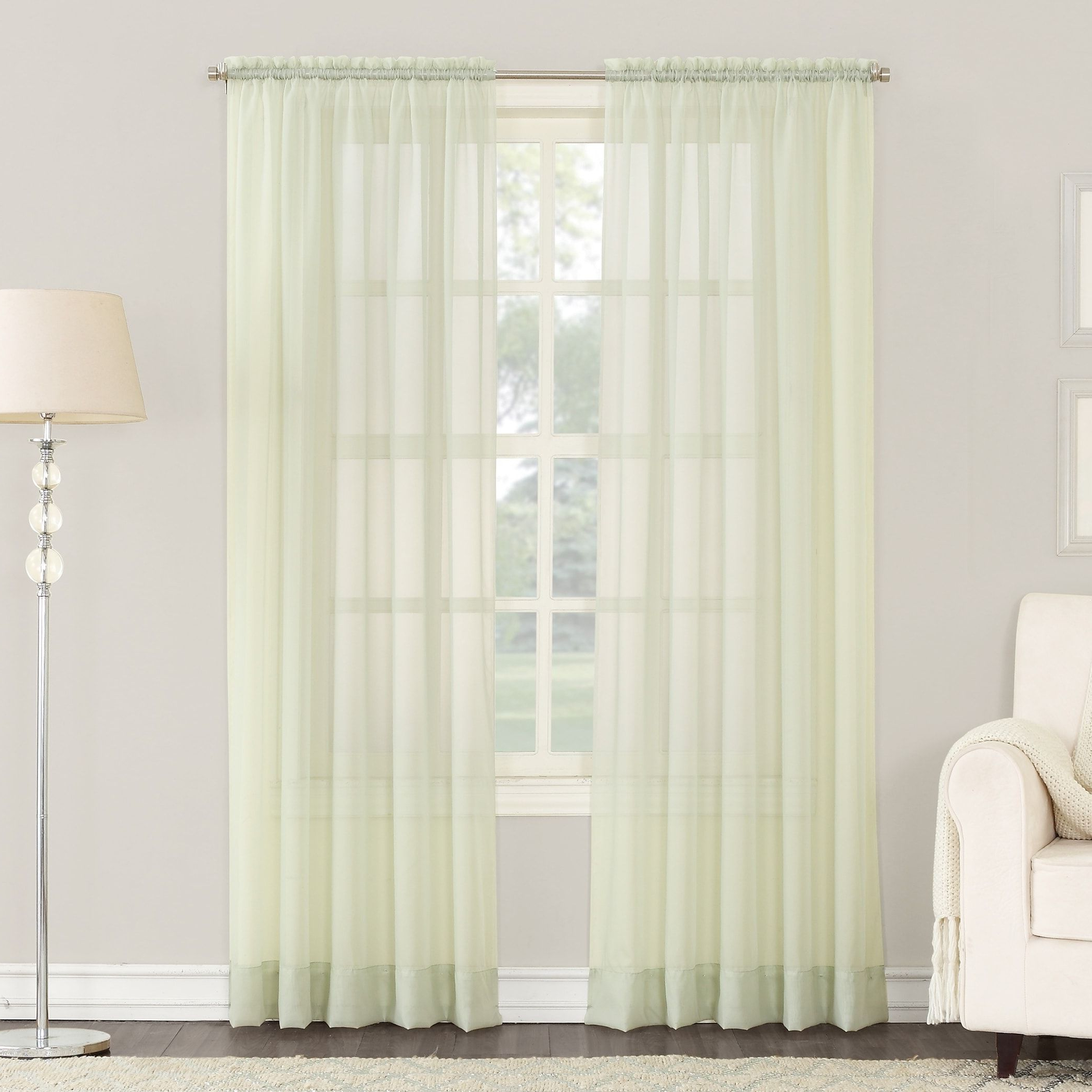 2020 Emily Sheer Voile Single Curtain Panels Within No (View 8 of 20)
