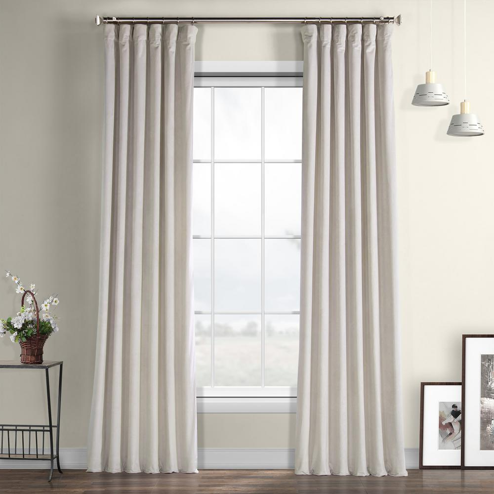 2020 Exclusive Fabrics & Furnishings City Grey Heritage Plush Velvet Curtain –  50 In. W X 96 In (View 2 of 20)