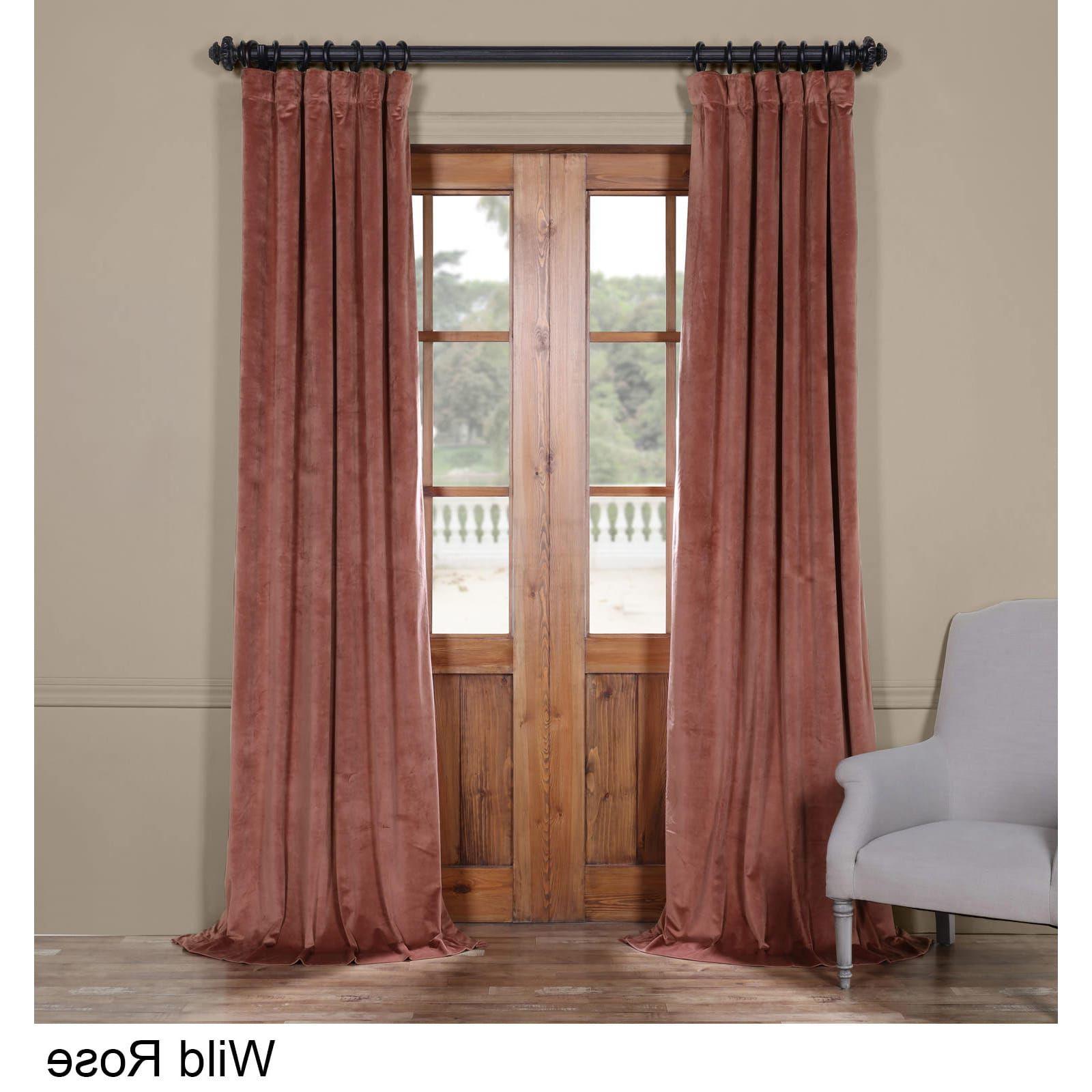 2020 Exclusive Fabrics Heritage Plush Velvet Curtain (Wild Rose With Regard To Heritage Plush Velvet Single Curtain Panels (View 10 of 20)