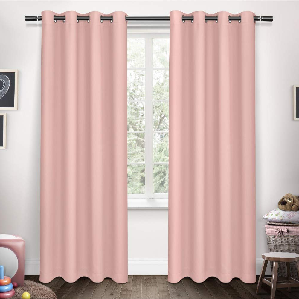 2020 Exclusive Home Curtains Sateen Kids Twill Weave Blackout Window Curtain  Panel Pair With Grommet Top, 52X84, Bubble Gum, 2 Piece Within Sateen Twill Weave Insulated Blackout Window Curtain Panel Pairs (View 1 of 20)