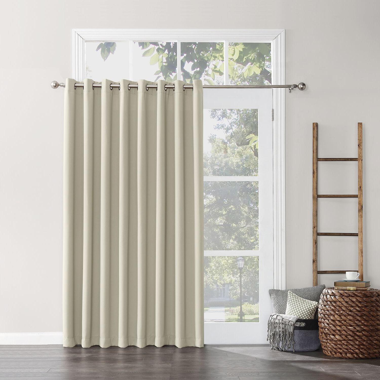 2020 Hayden Rod Pocket Blackout Panels With Regard To Sun Zero Hayden Grommet Blackout Patio Door Window Curtain (View 16 of 20)