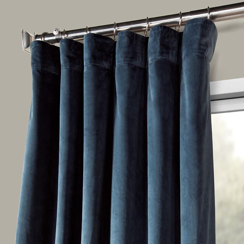 2020 Heritage Plush Velvet Single Curtain Panels Inside Heritage Plush Velvet Curtain (Sold Per Panel) (View 19 of 20)