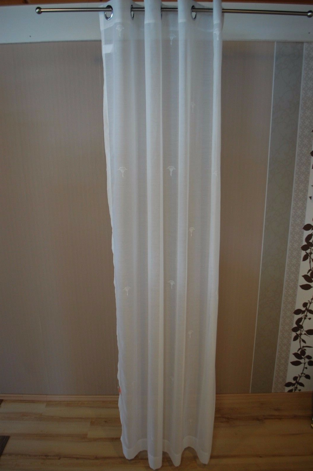 2020 Joop Gardine Vorhang Nola 001 Weiß Weiß Weiß 140x250 Cm In Softline Trenton Grommet Top Curtain Panels (View 14 of 20)