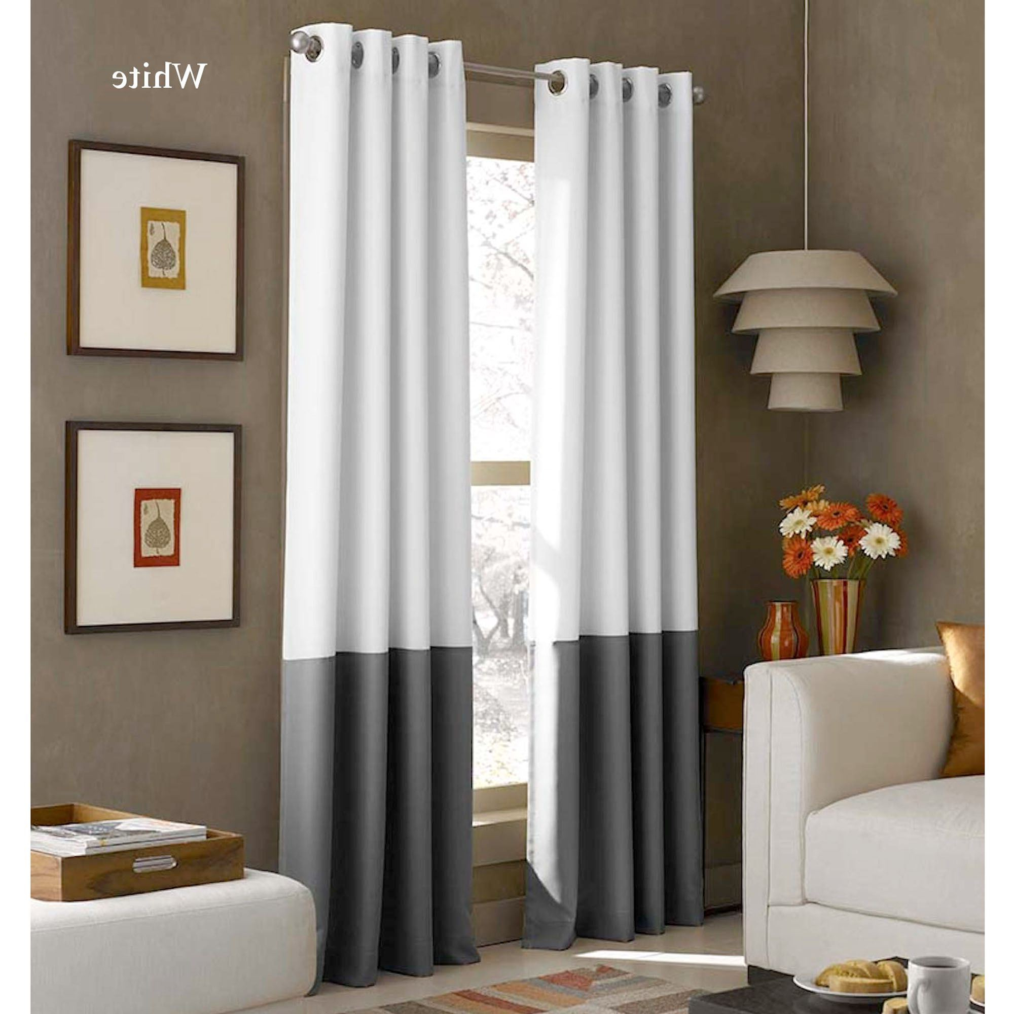 2020 Lined Grommet Curtain Panels In Kendallin Color Block Grommet Curtain Panels (View 13 of 20)