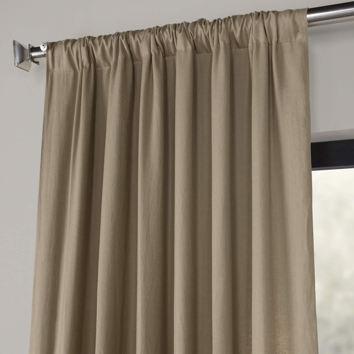 2020 Ln Xs1703 96 French Linen Curtain, Flax Beige, 50 X 96 For French Linen Lined Curtain Panels (View 9 of 20)