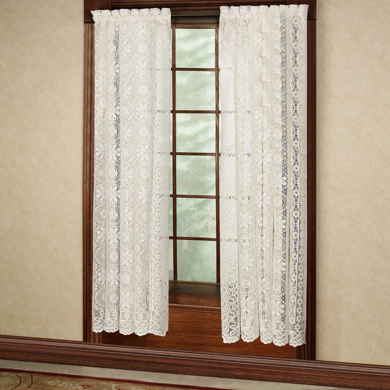 2020 Luxurious Old World Style Lace Window Curtain Panels For Luxurious Old World Style Lace Window Curtain Panel (View 2 of 20)