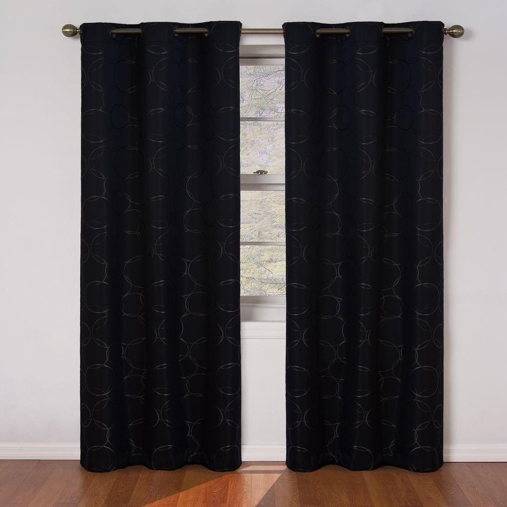 2020 Meridian Blackout Window Curtain Panels Inside Eclipse Meridian Blackout Window Curtain Panel In Black – 42 In. W X 84 In (View 6 of 20)